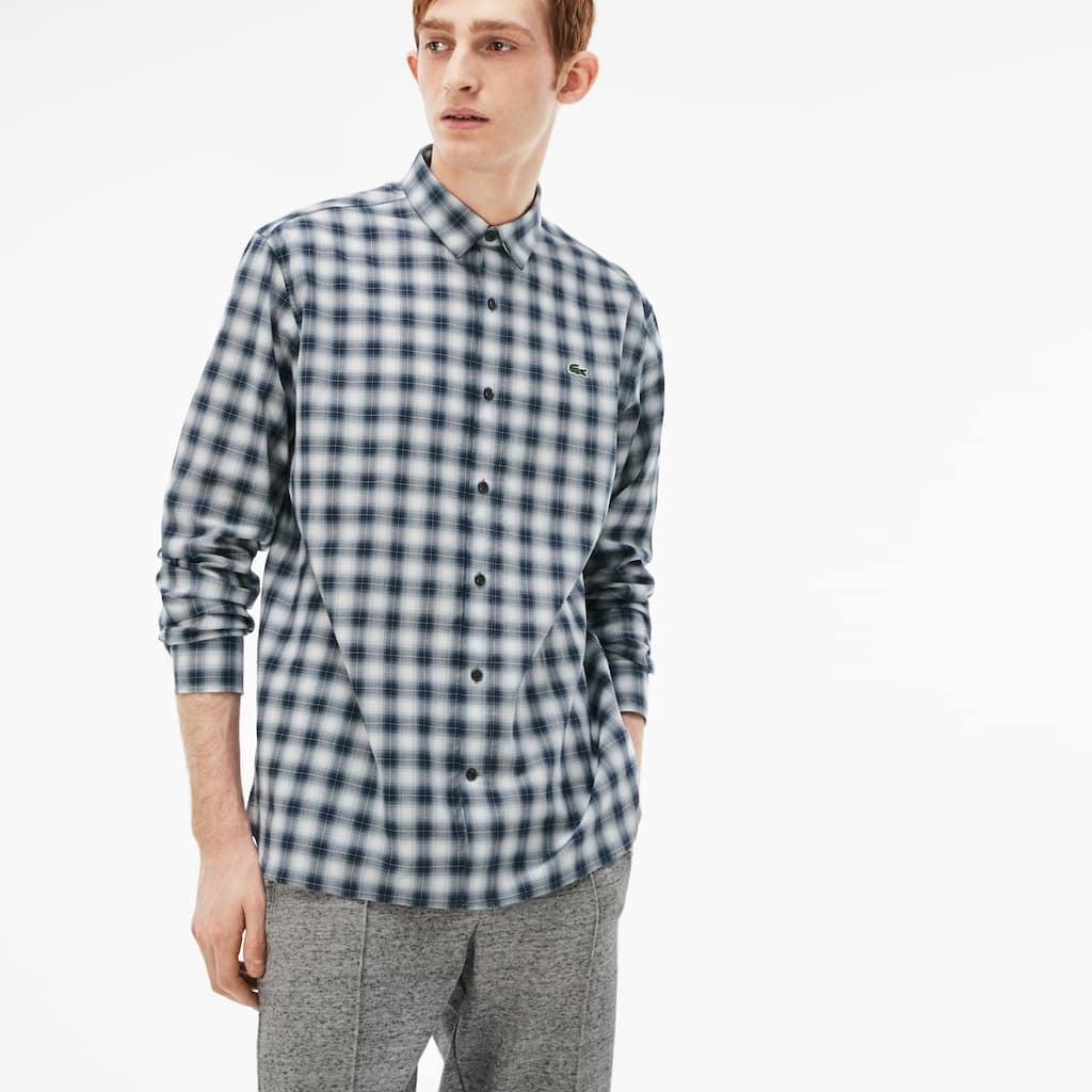 87556d40640 Men s Lacoste LIVE Boxy Fit Check Poplin Shirt