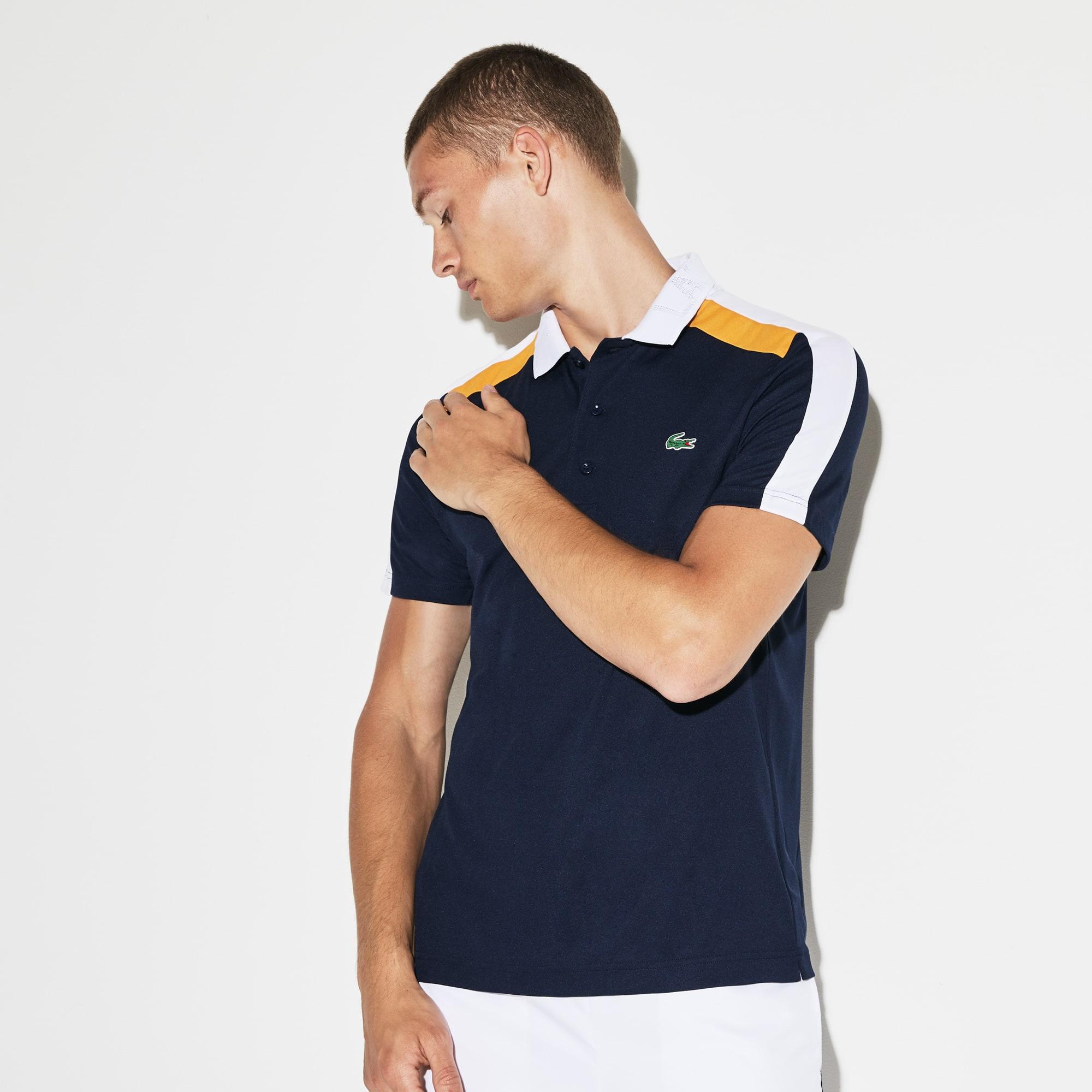 f0bde7c866 Men's Lacoste SPORT Contrast Band Technical Piqué Tennis Polo Shirt