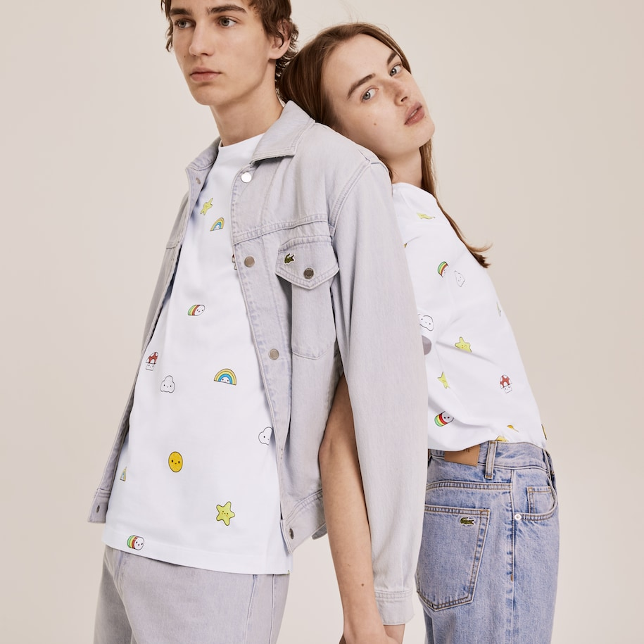 Unisex Lacoste x FriendsWithYou Print Cotton T-shirt