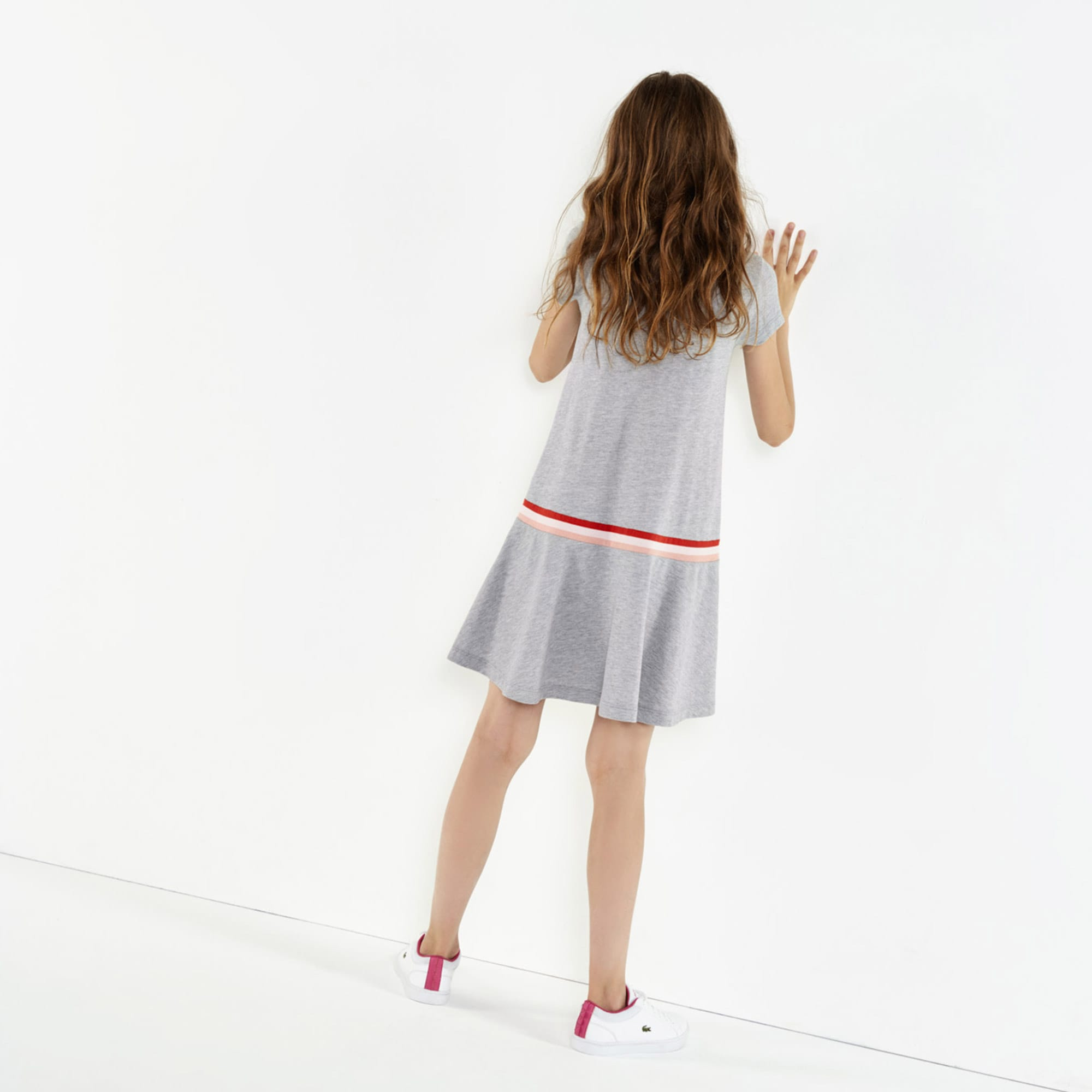 e953474b Girls' Pleated Cotton Petit Piqué Polo Dress | LACOSTE