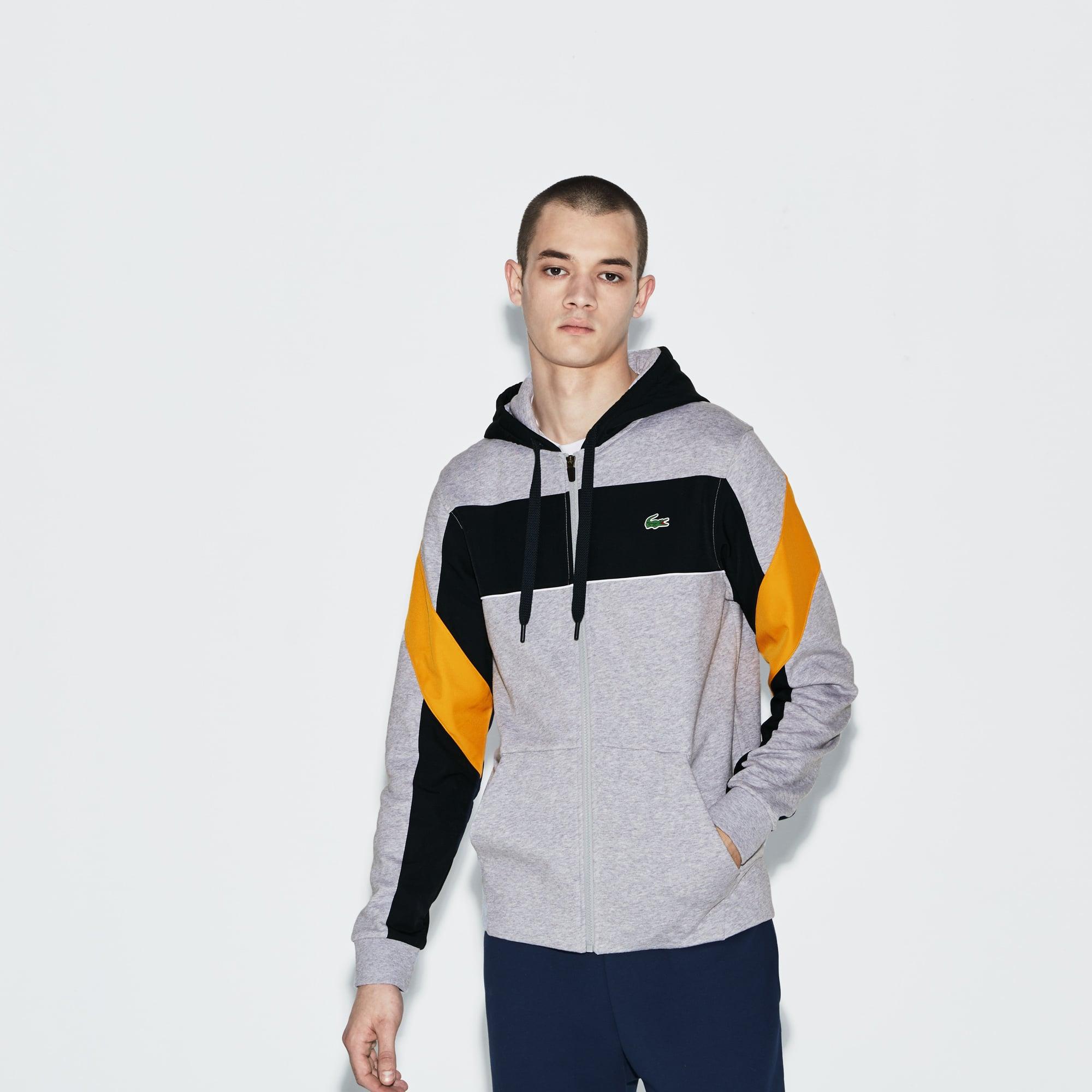 Hooded Tennis Men's Zip Sport Lacoste Colorblock Sweatshirt qREnOv