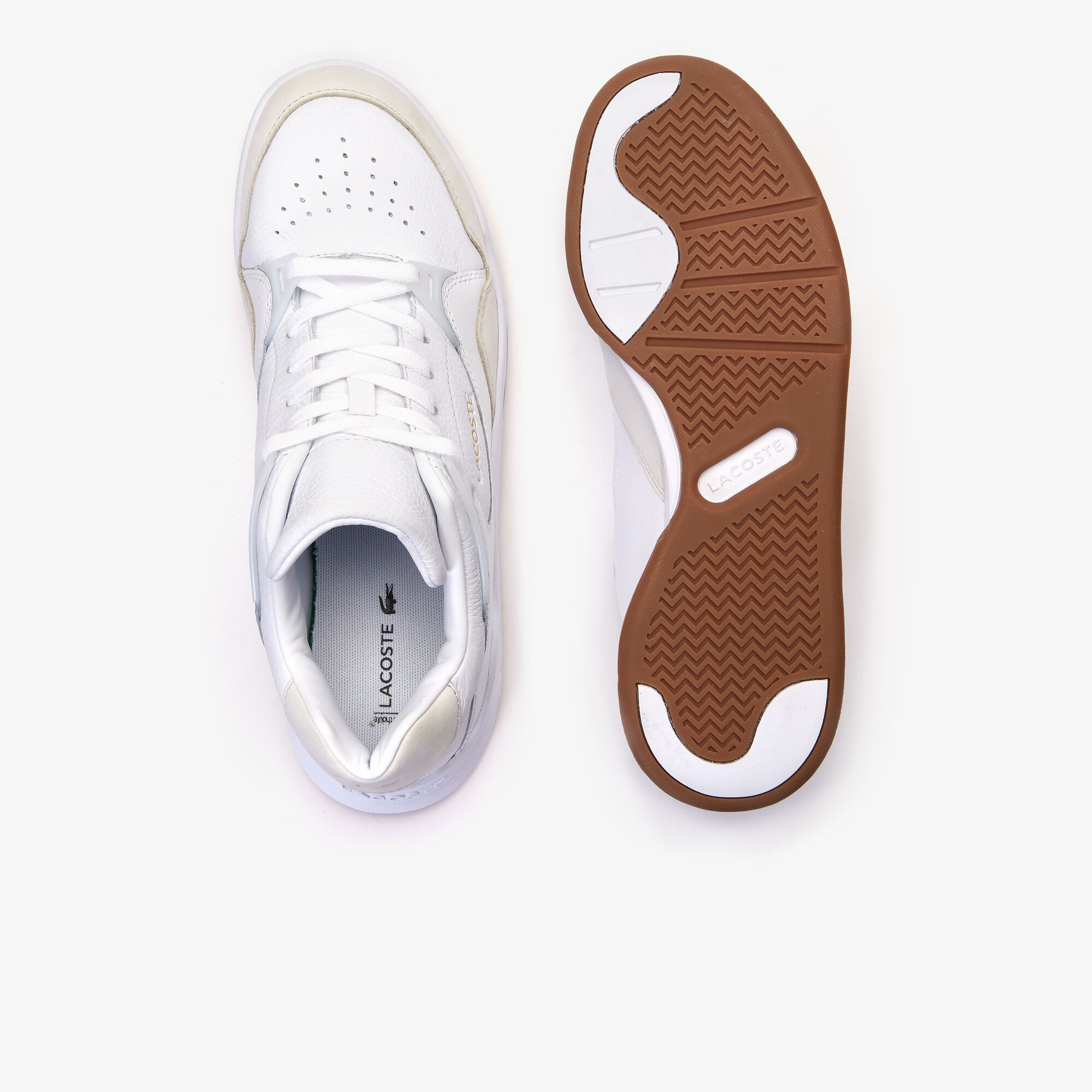 Men's Court Slam Perforated Leather Trainers