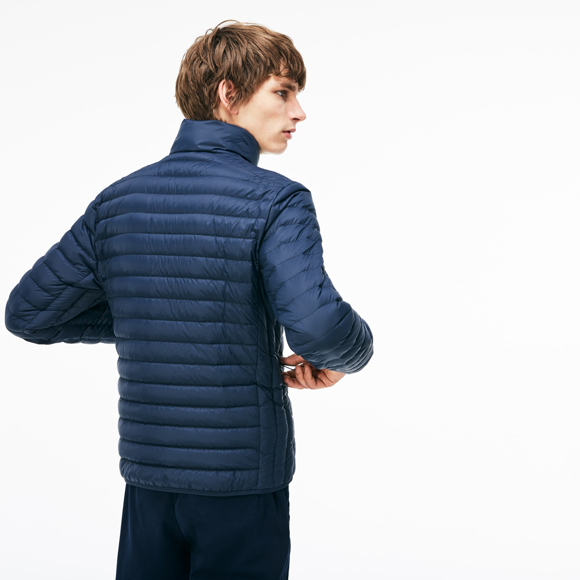 f179d280 Men's Short Contrast Lining Down Jacket