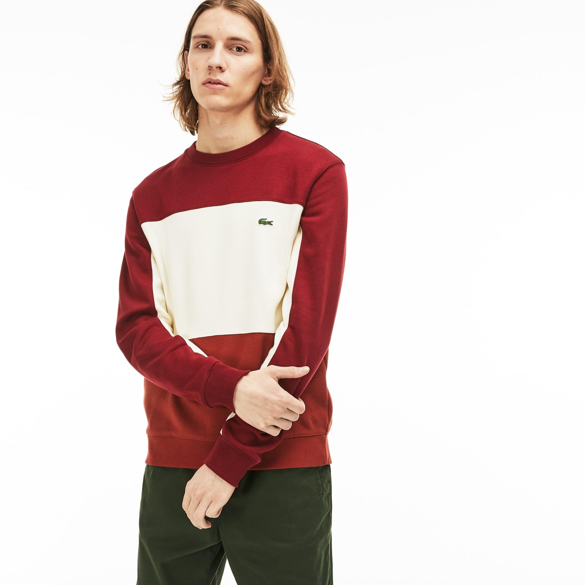 c6af460ad1 + 1 color. New Arrival. Men's Crew Neck Colourblock Piqué Fleece Sweatshirt