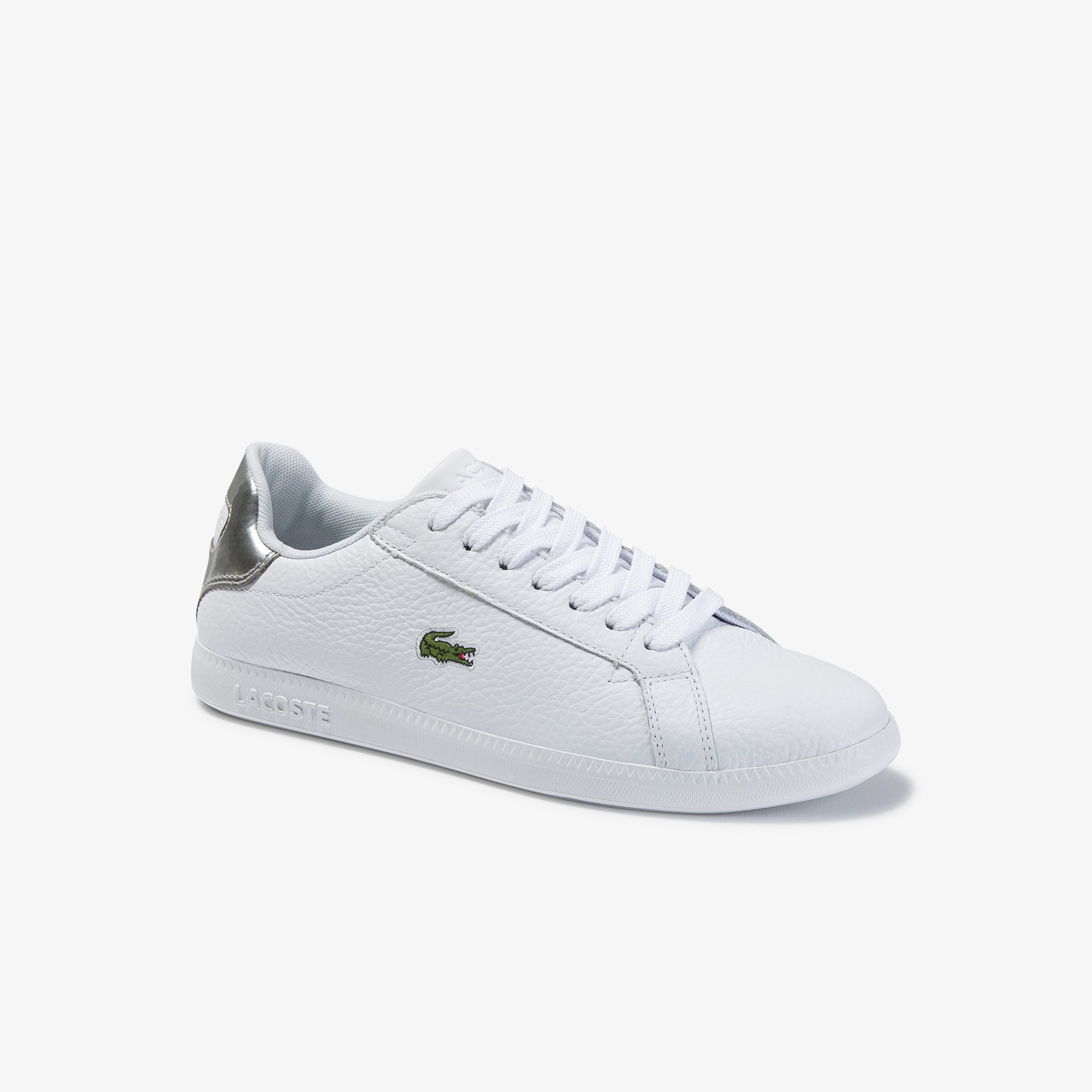 Women's Graduate Leather Trainers   LACOSTE