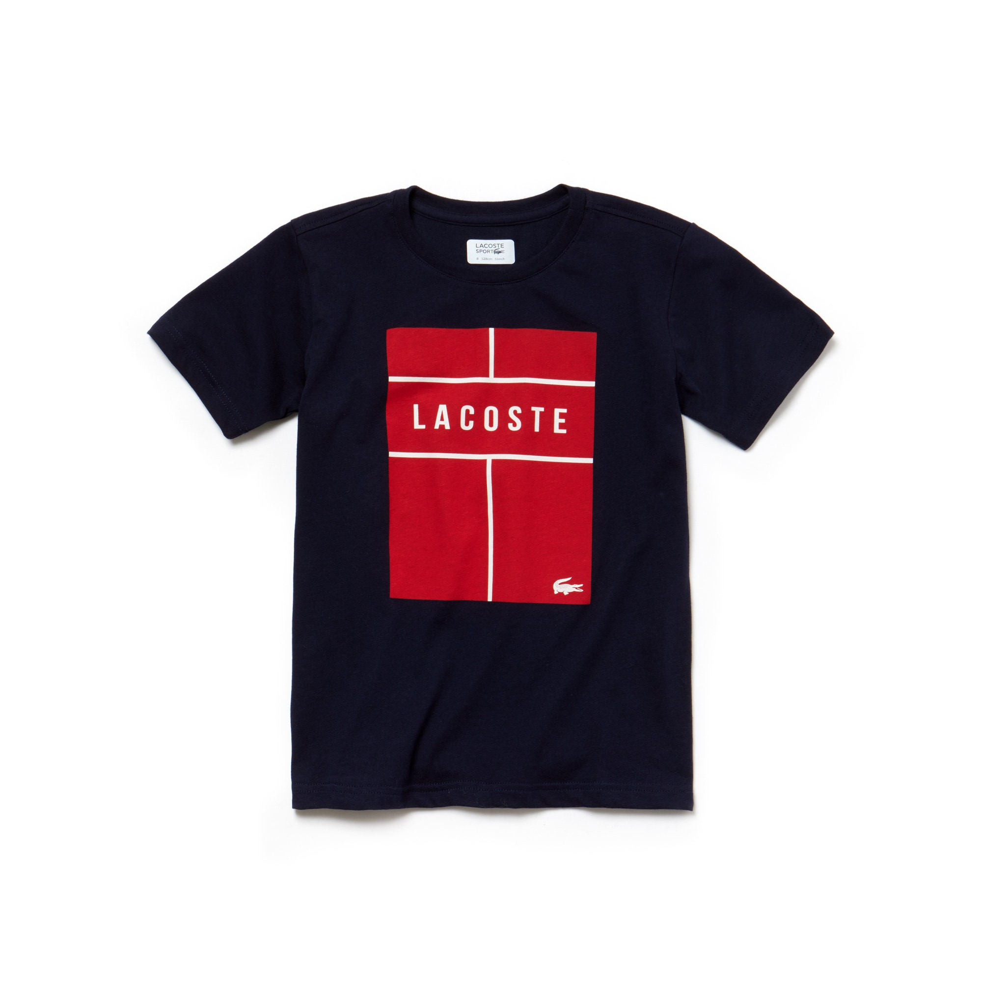 f57cbc68 Boys' Lacoste SPORT Lettering Technical Jersey Tennis T-Shirt | LACOSTE