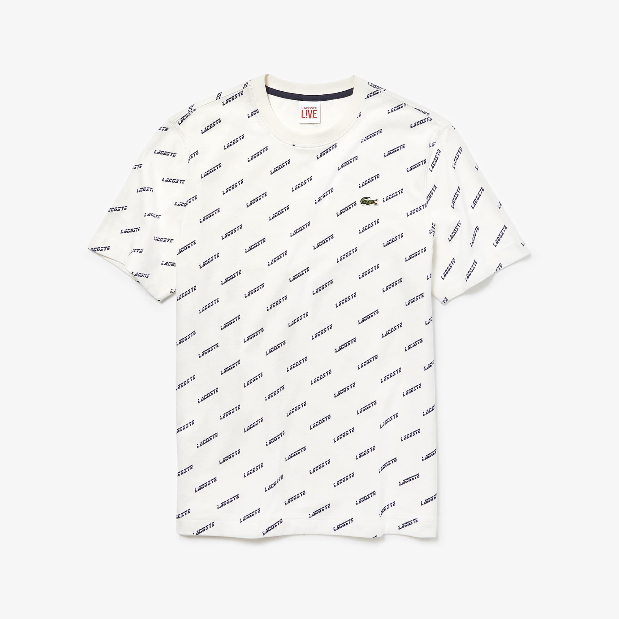 ec49620aed Men's Lacoste LIVE Crew Neck Print Cotton T-shirt