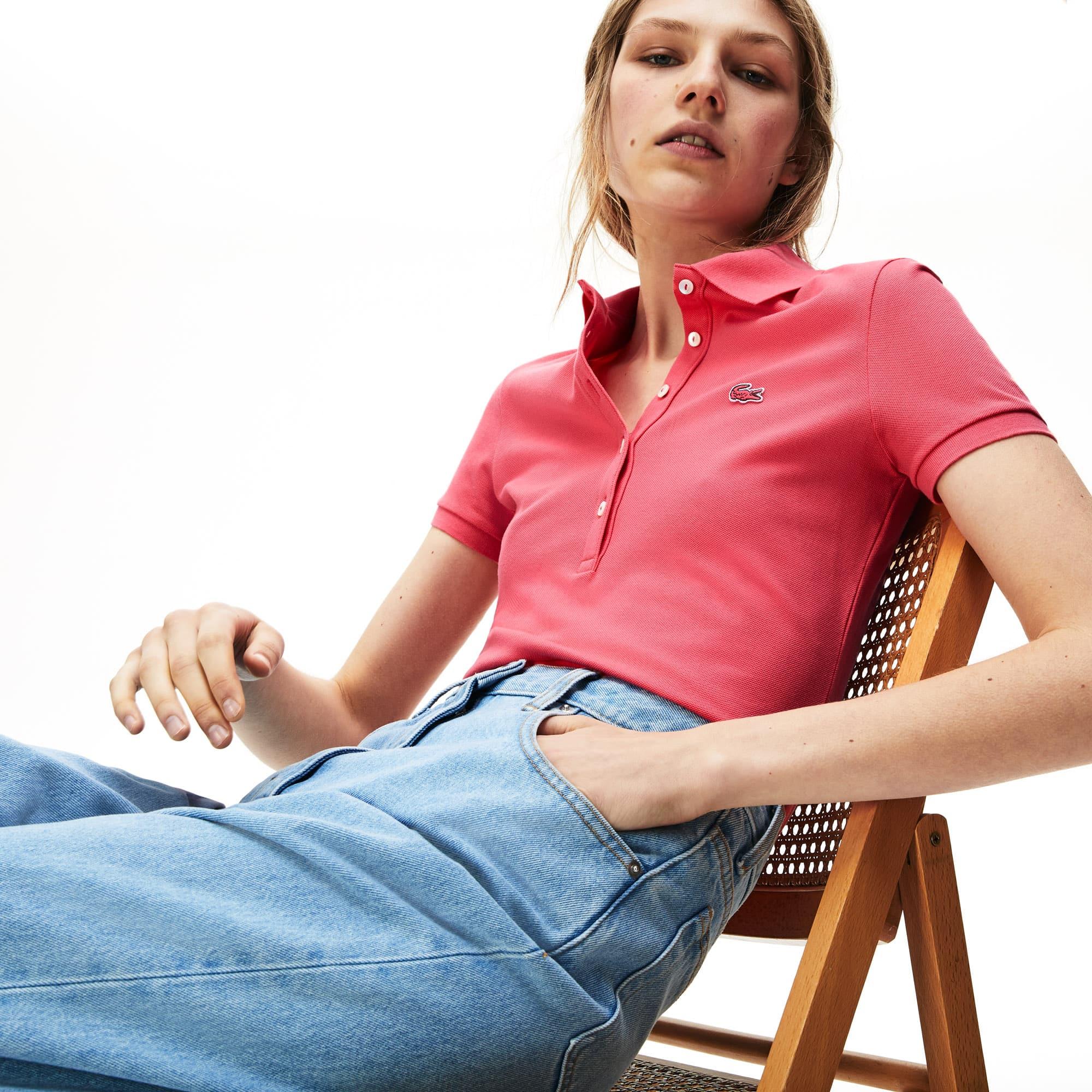 7d79a44b Women's Lacoste Slim Fit Stretch Mini Cotton Piqué Polo Shirt   LACOSTE
