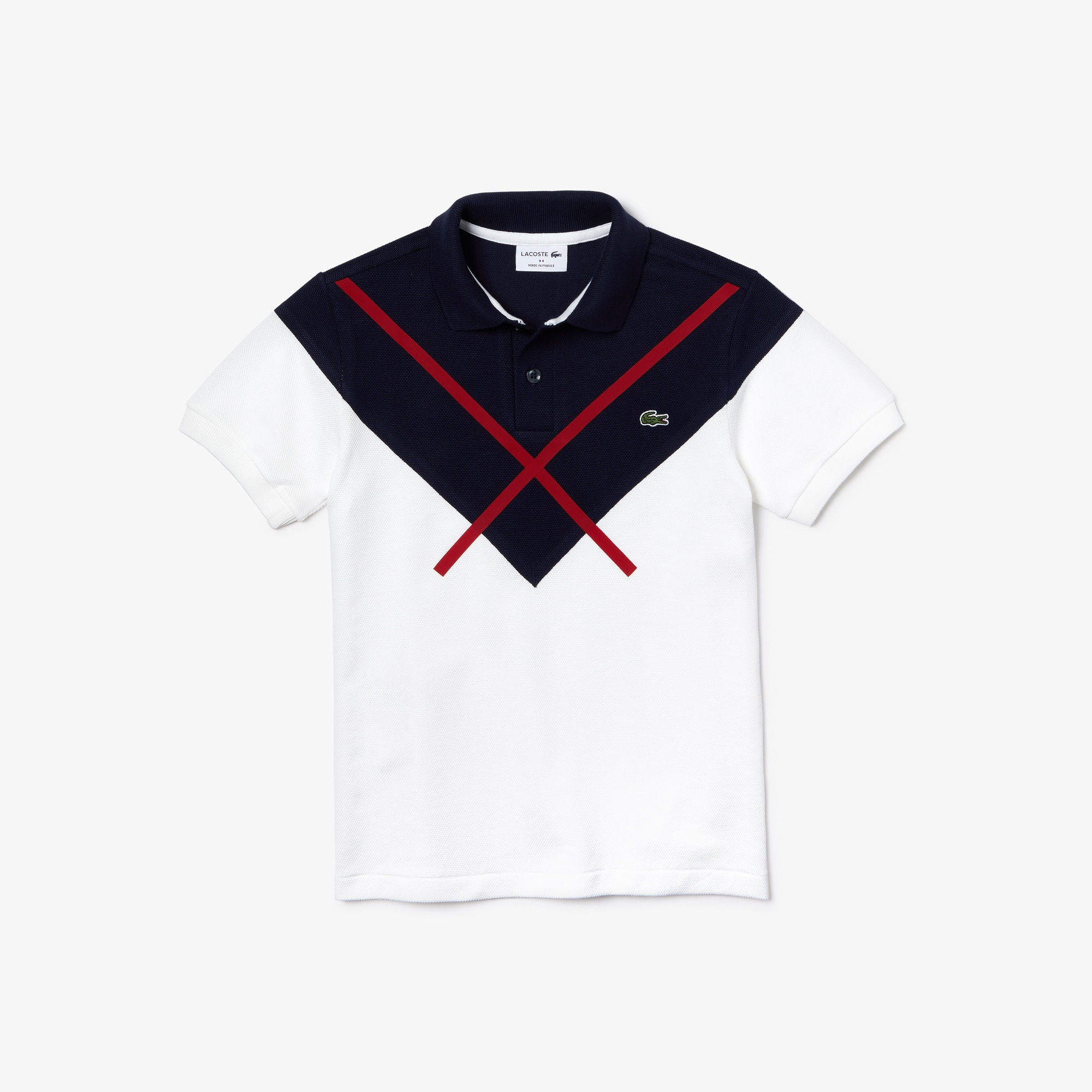Boys' Lacoste Made In France Jacquard Patterned Piqué Polo Shirt