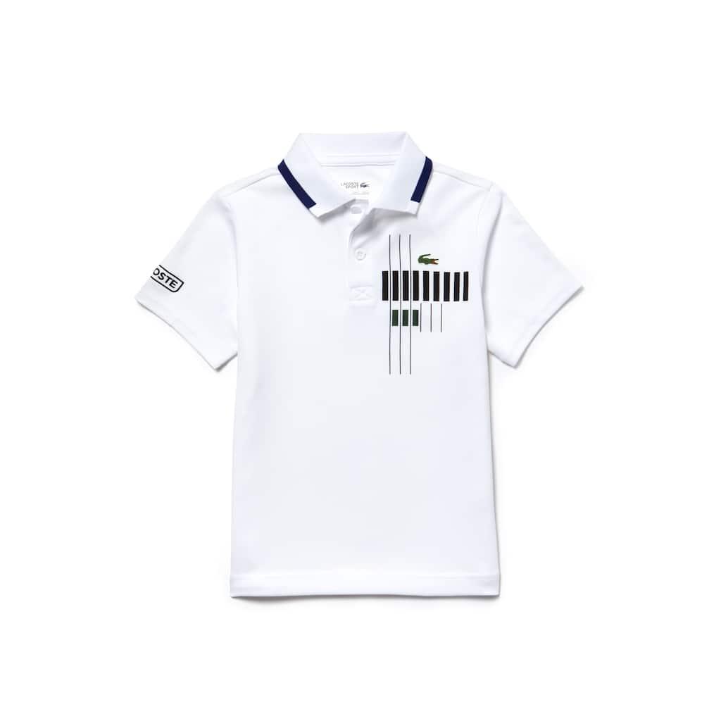 75b7497a Boys' Lacoste SPORT Tennis Brand Design Technical Piqué Polo Shirt ...