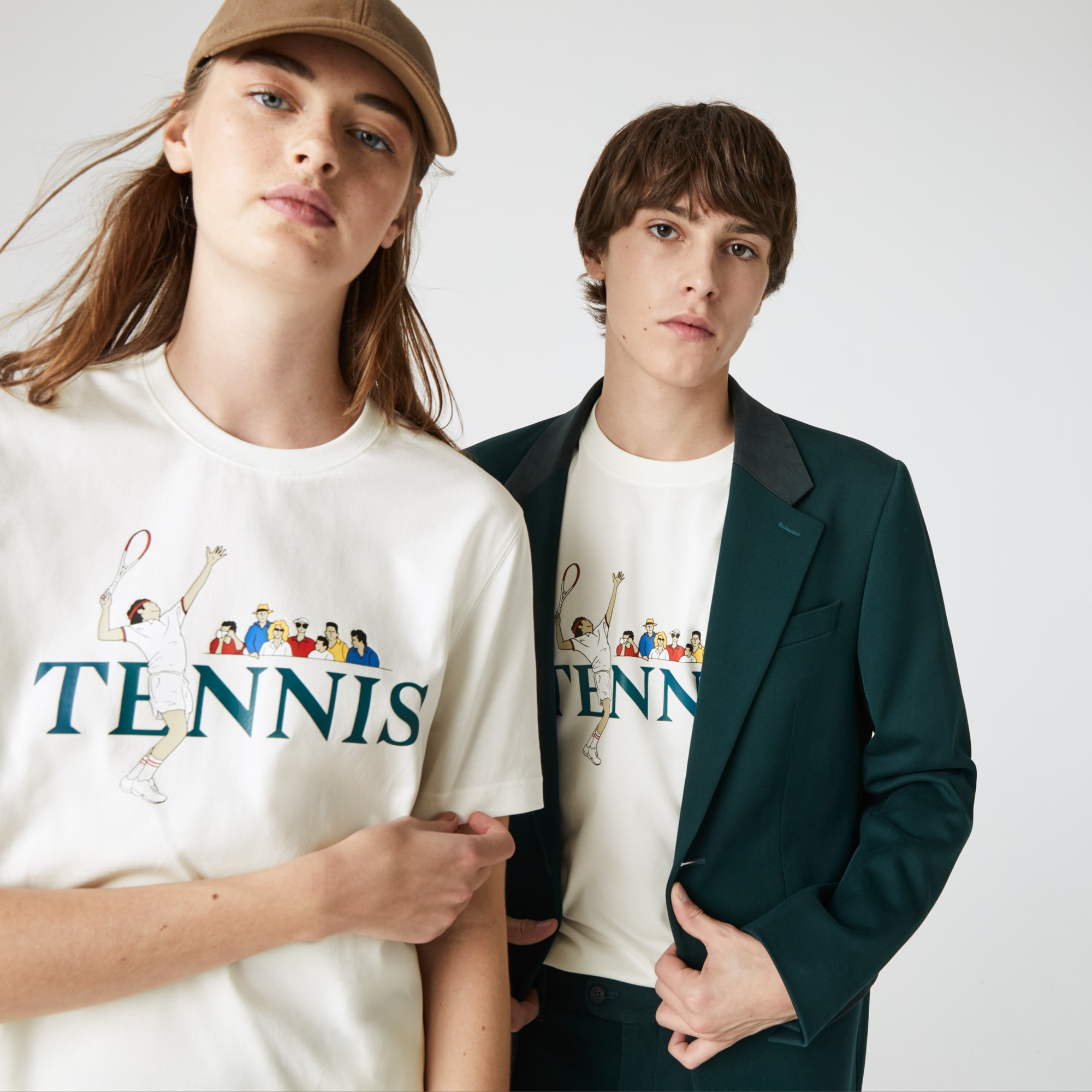Unisex Lacoste LIVE Lacoste Tennis Design Cotton T-shirt