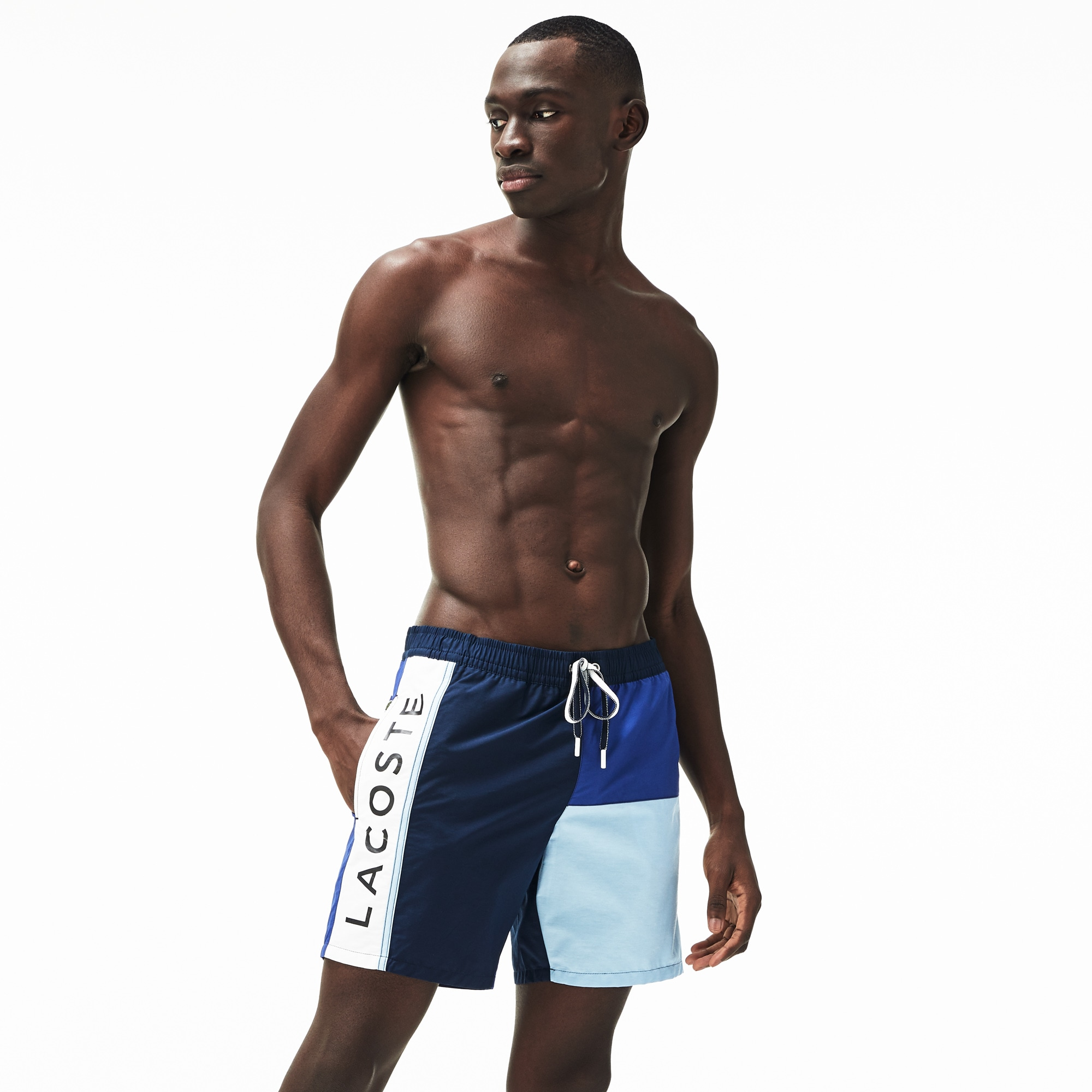 3db26d2703384 Men's Colourblock Taffeta Swimming Trunks | LACOSTE