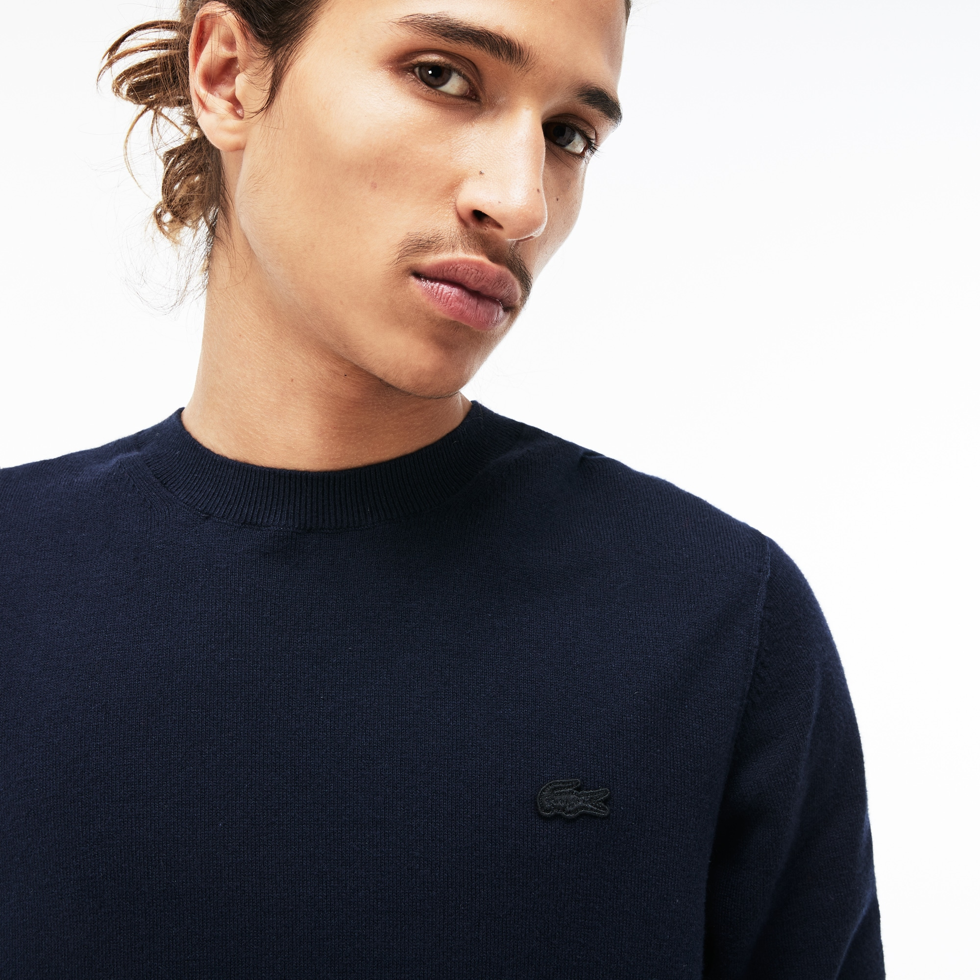 9afbad4d Men's Lacoste LIVE Crew Neck Cotton And Cashmere Jersey Sweater