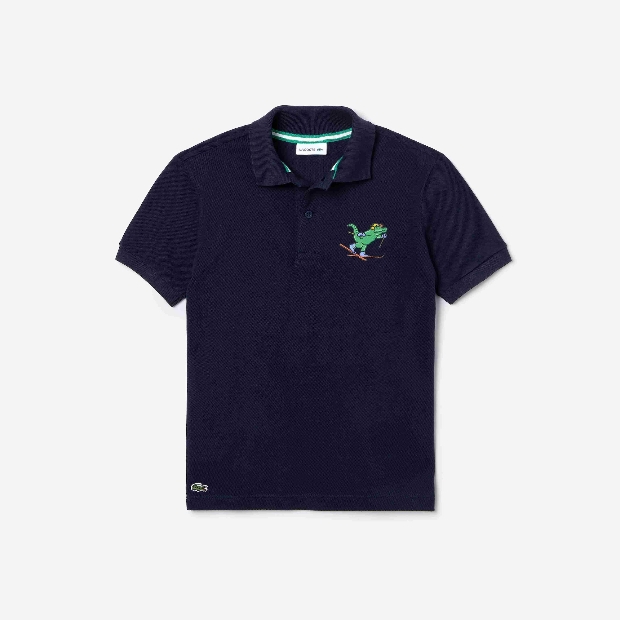 Boys' Fun Crocodile And Surprises Lacoste Cotton Polo Shirt Gift Set