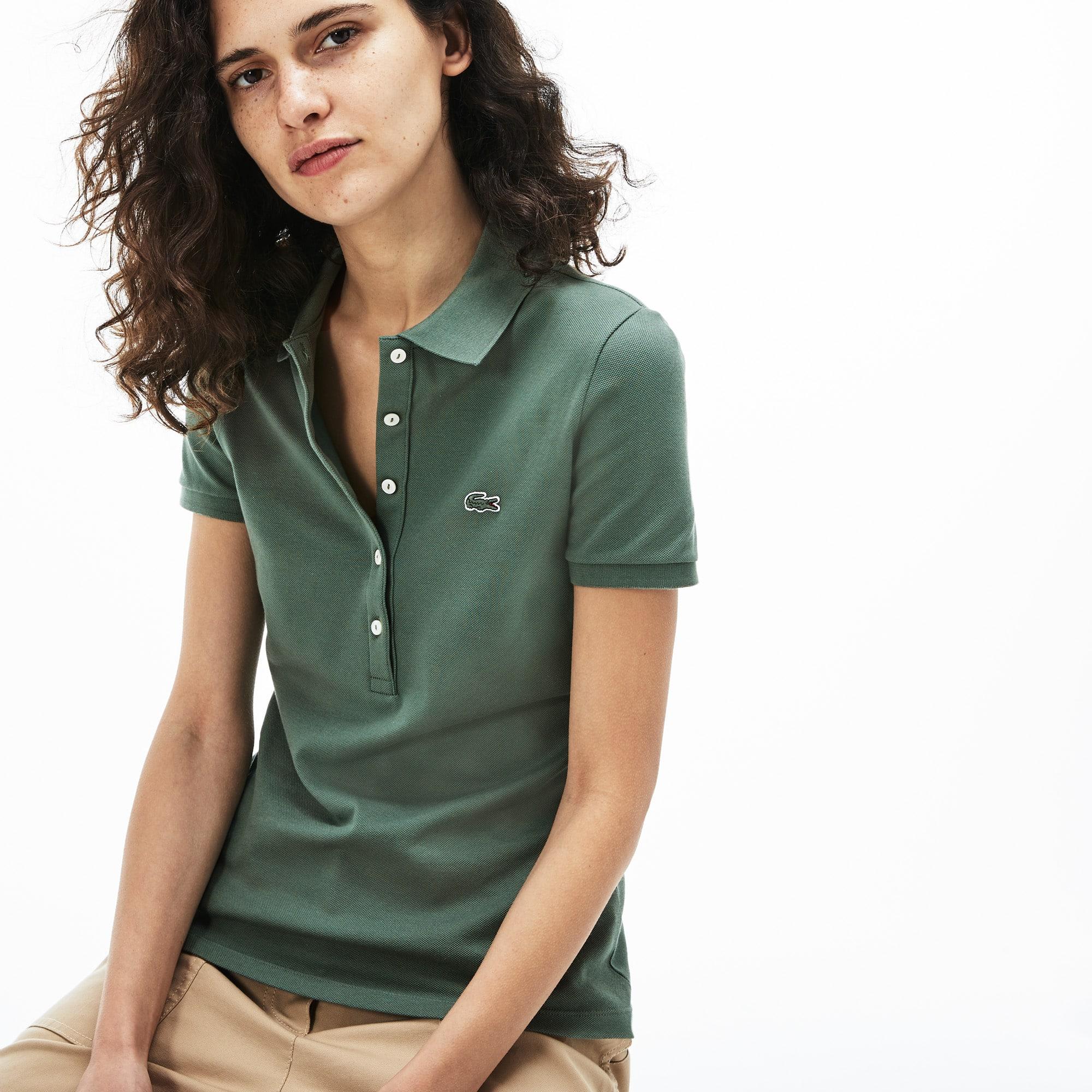 d5b3ce1f Women's Lacoste Slim Fit Stretch Mini Cotton Piqué Polo Shirt