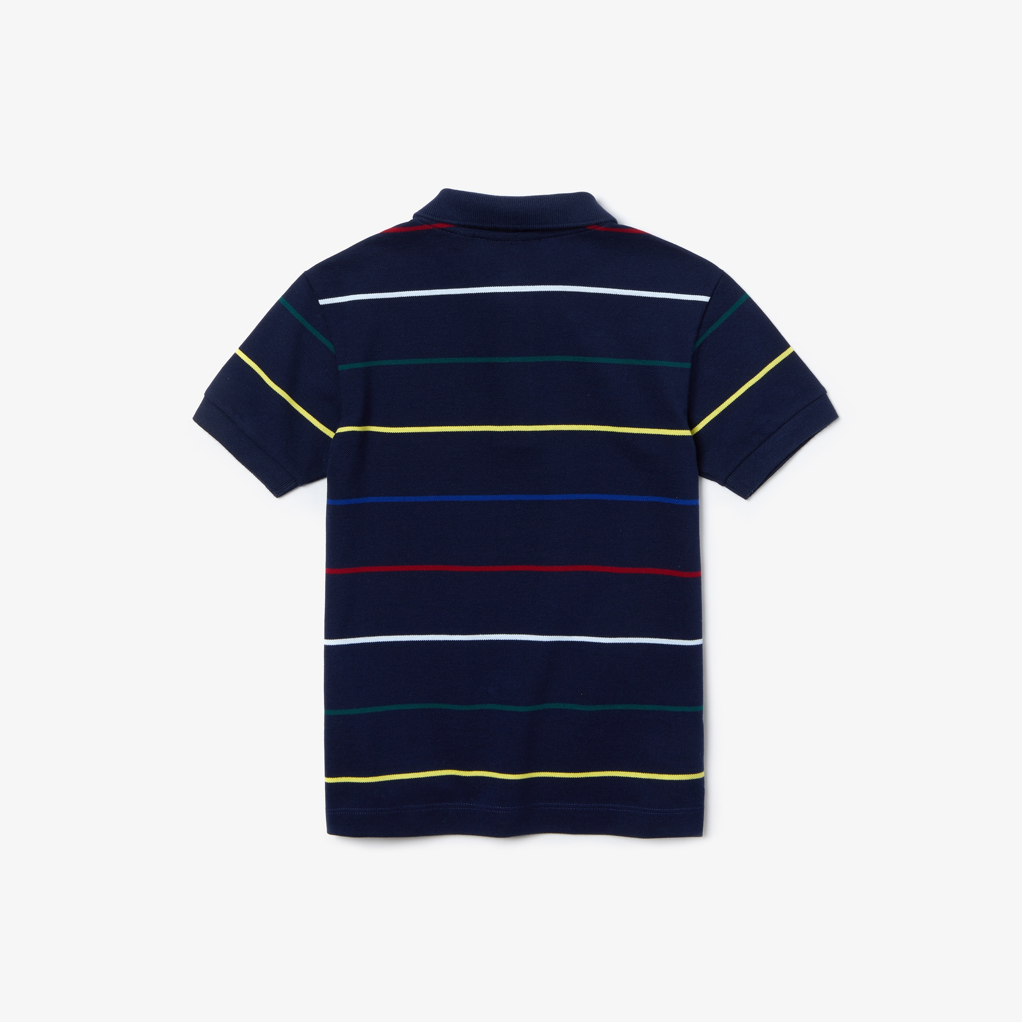 Boys' Lacoste Coloured Pinstripes Cotton Piqué Polo Shirt
