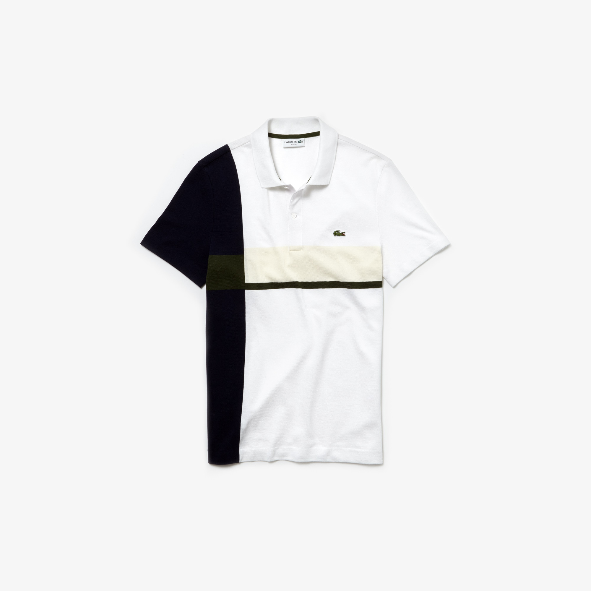 51e2eae621 Men's Lacoste Slim Fit Colourblock Cotton Petit Piqué Polo Shirt