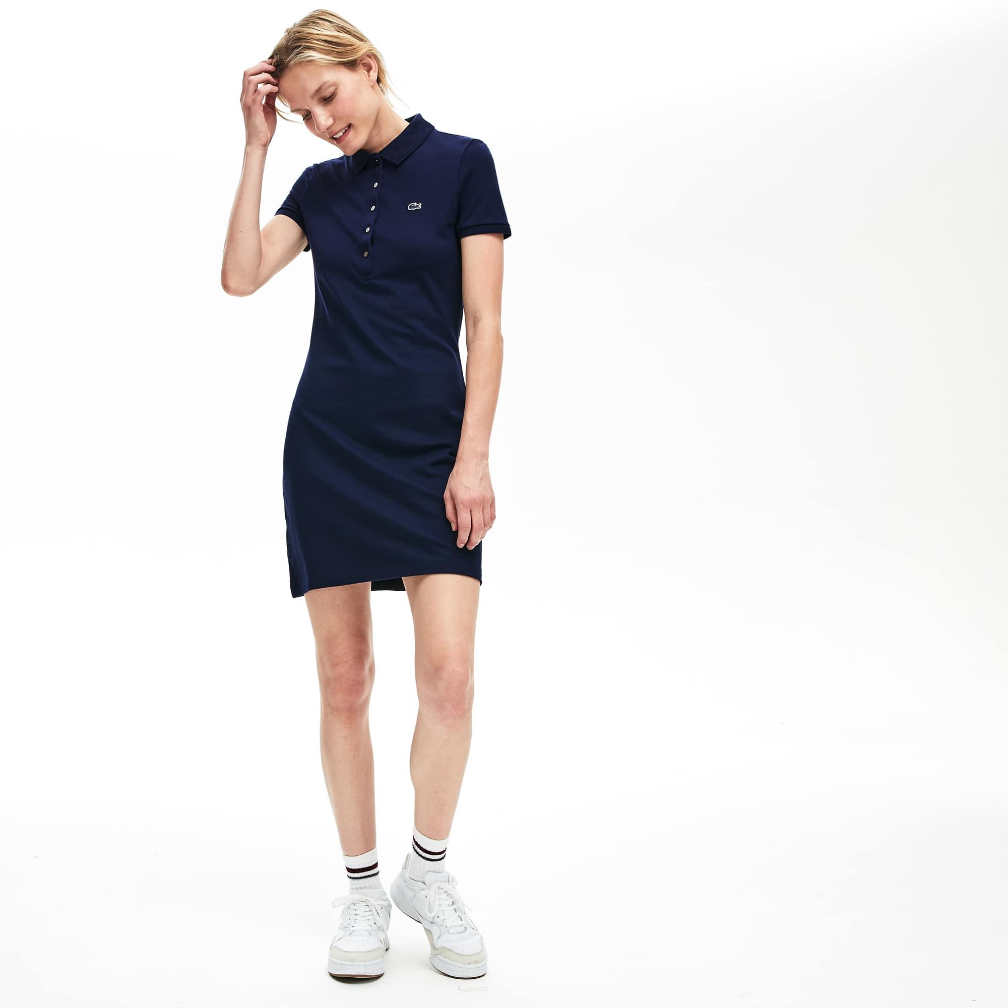 a07583ae20 Women's Stretch Cotton Mini Piqué Polo Dress | LACOSTE