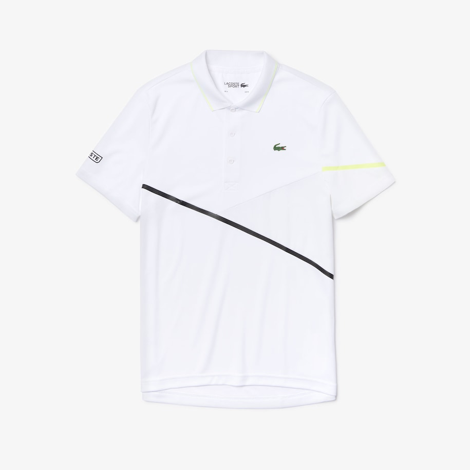 Men's Lacoste SPORT Contrast Accent Breathable Piqué Tennis Polo Shirt