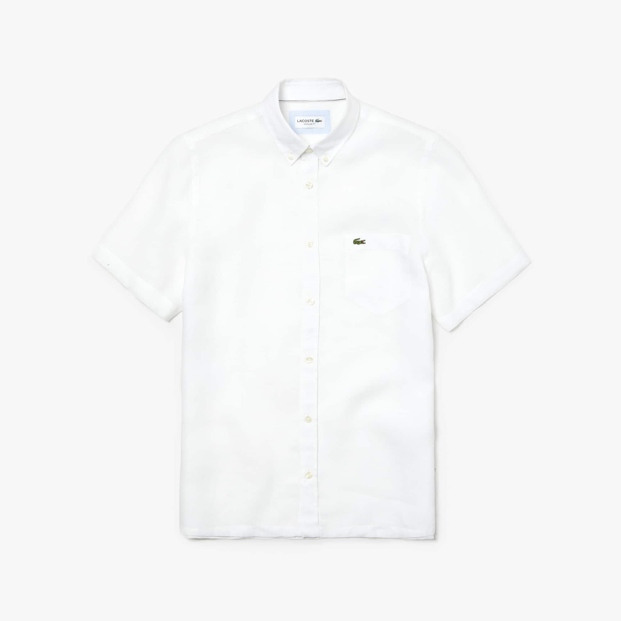 663791328 Men s Regular Fit Linen Shirt