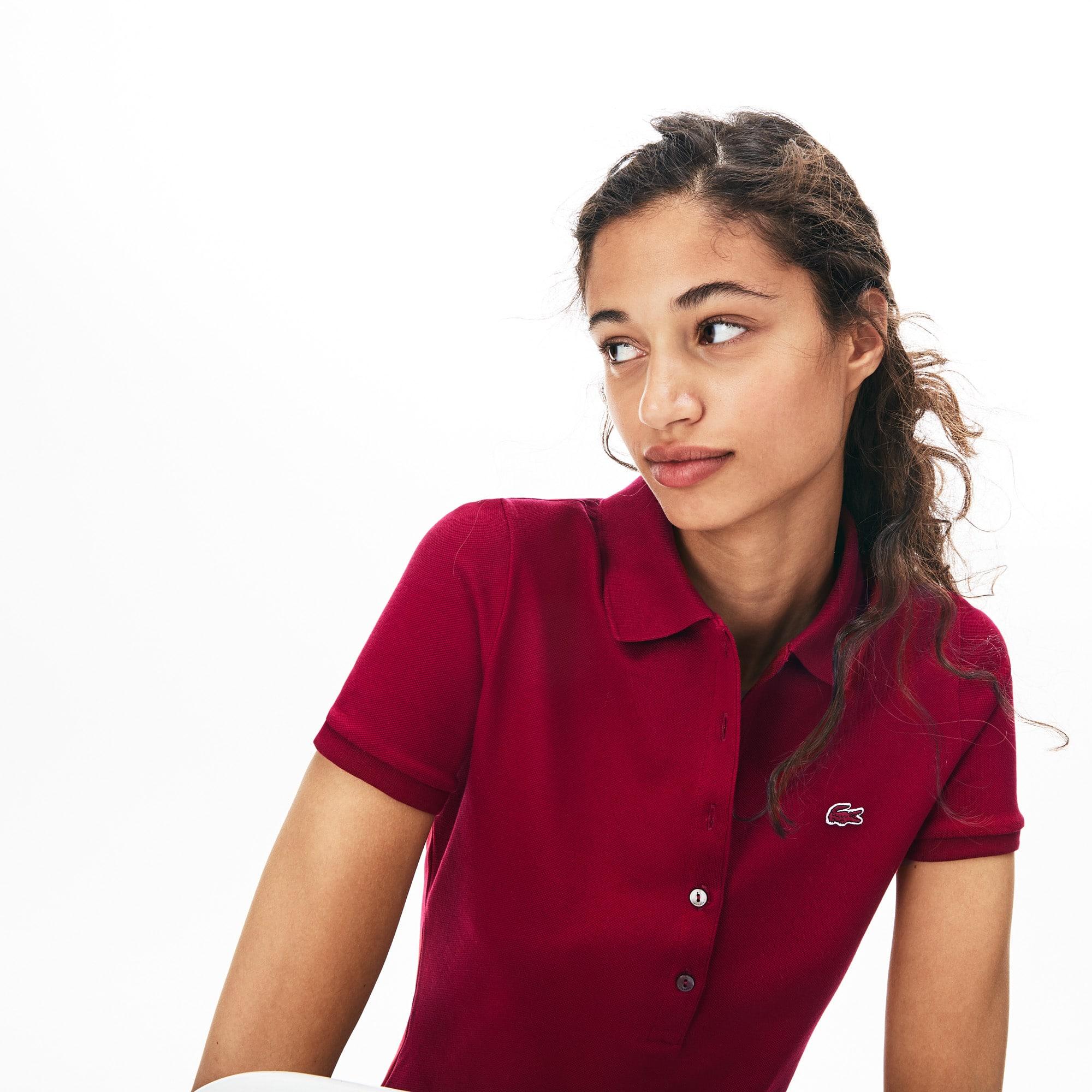 809572a25 Women s Lacoste Slim Fit Stretch Mini Cotton Piqué Polo Shirt