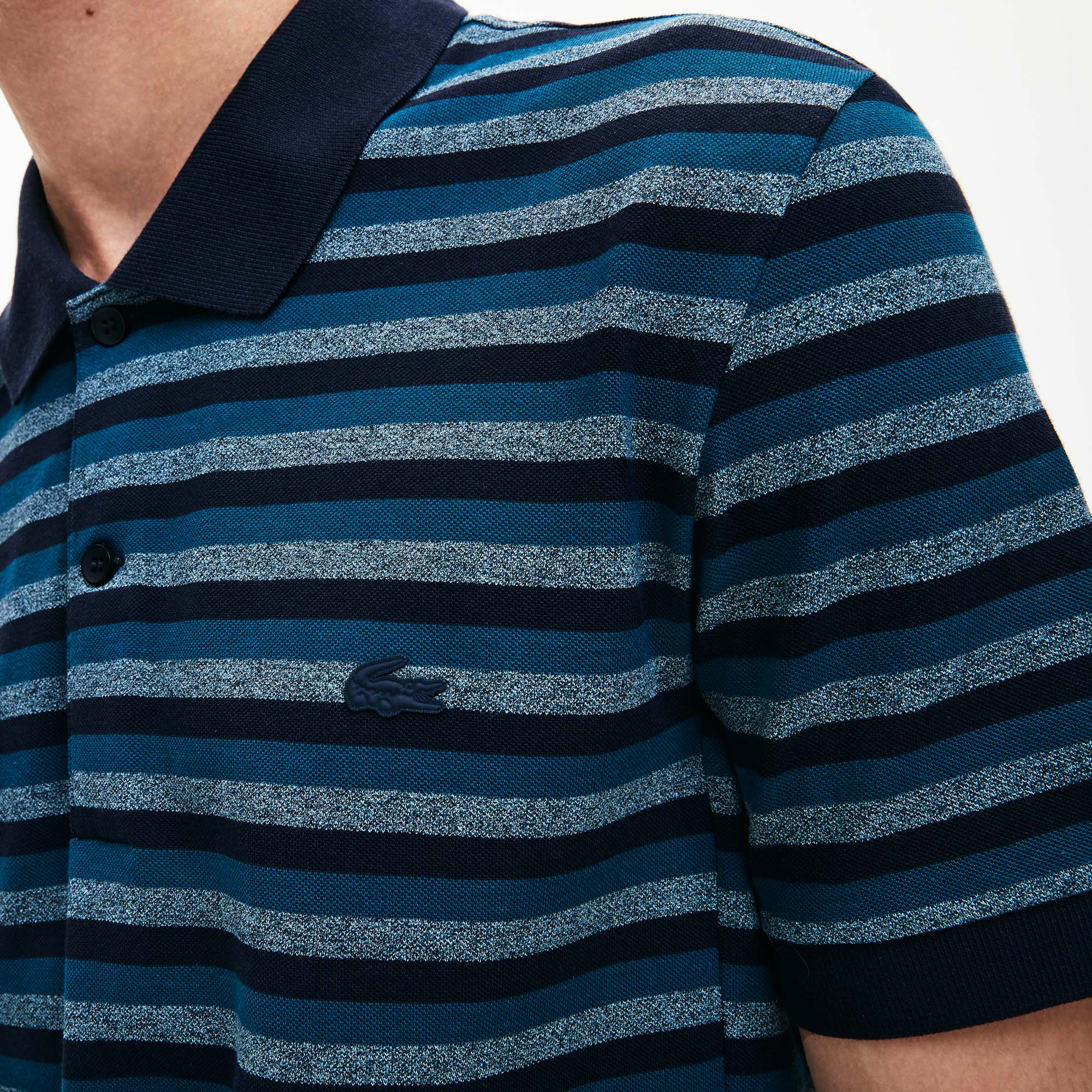 Men's Lacoste Motion Regular Fit Striped Ultra Fine Cotton Piqué Polo Shirt