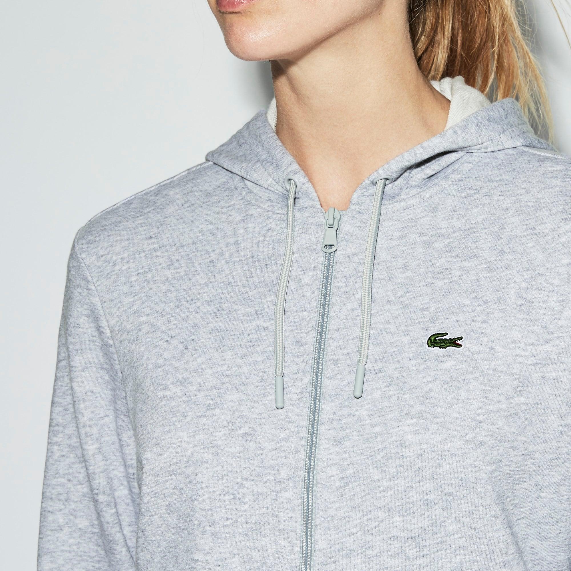 Womens Lacoste Zip Hooded Tennis Sweatshirt Hoodie New