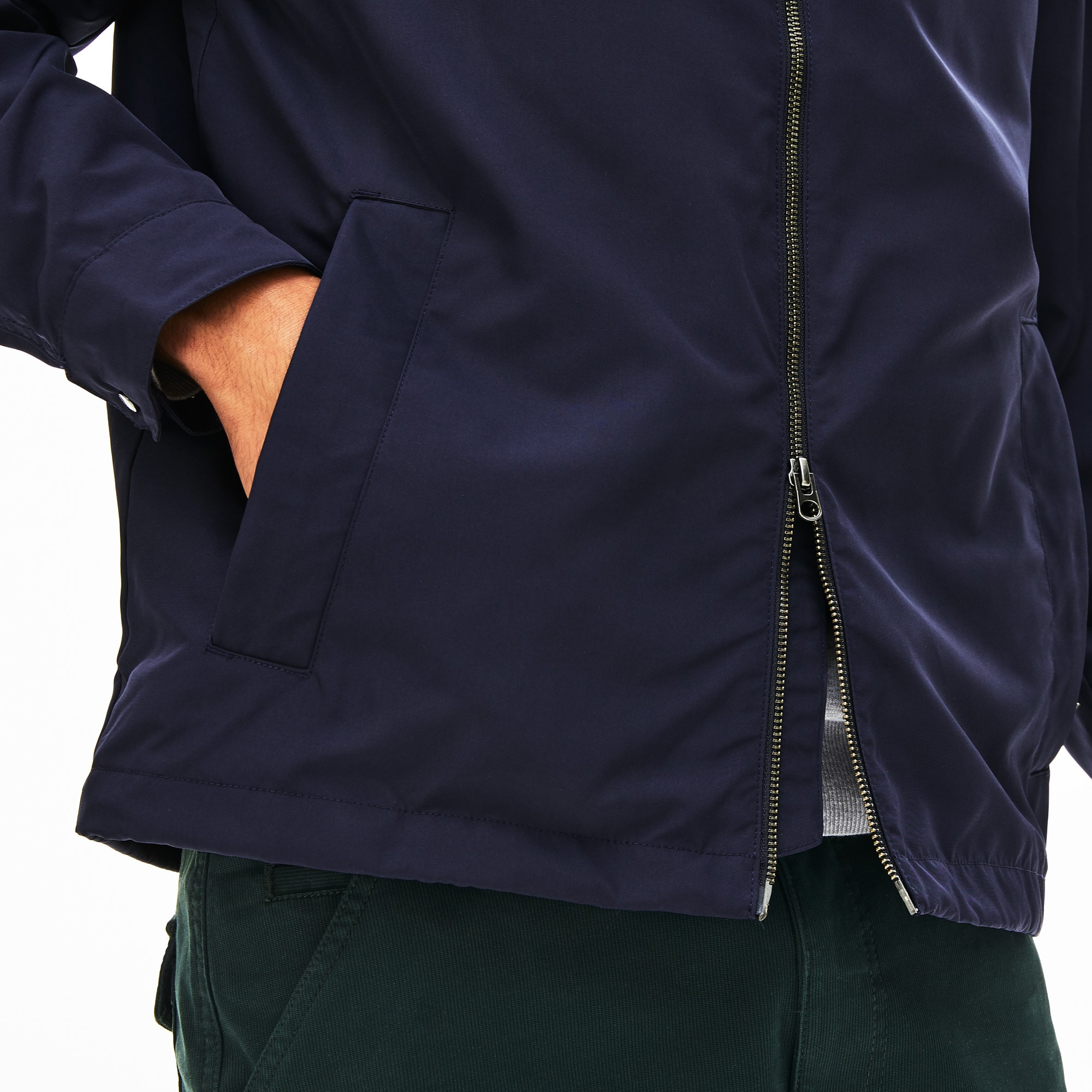Men's Concealed Hood Combinable Lightweight Zip Windbreaker