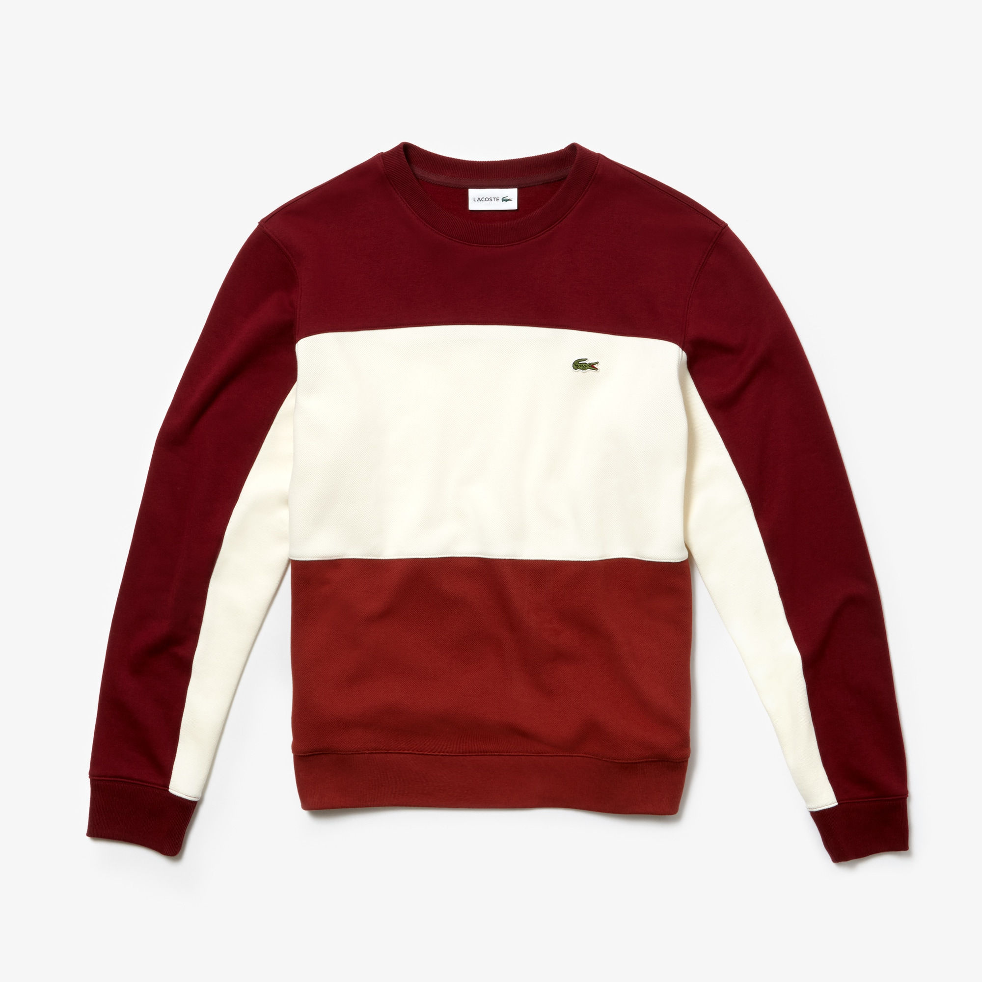Men's Crew Neck Colourblock Piqué Fleece Sweatshirt