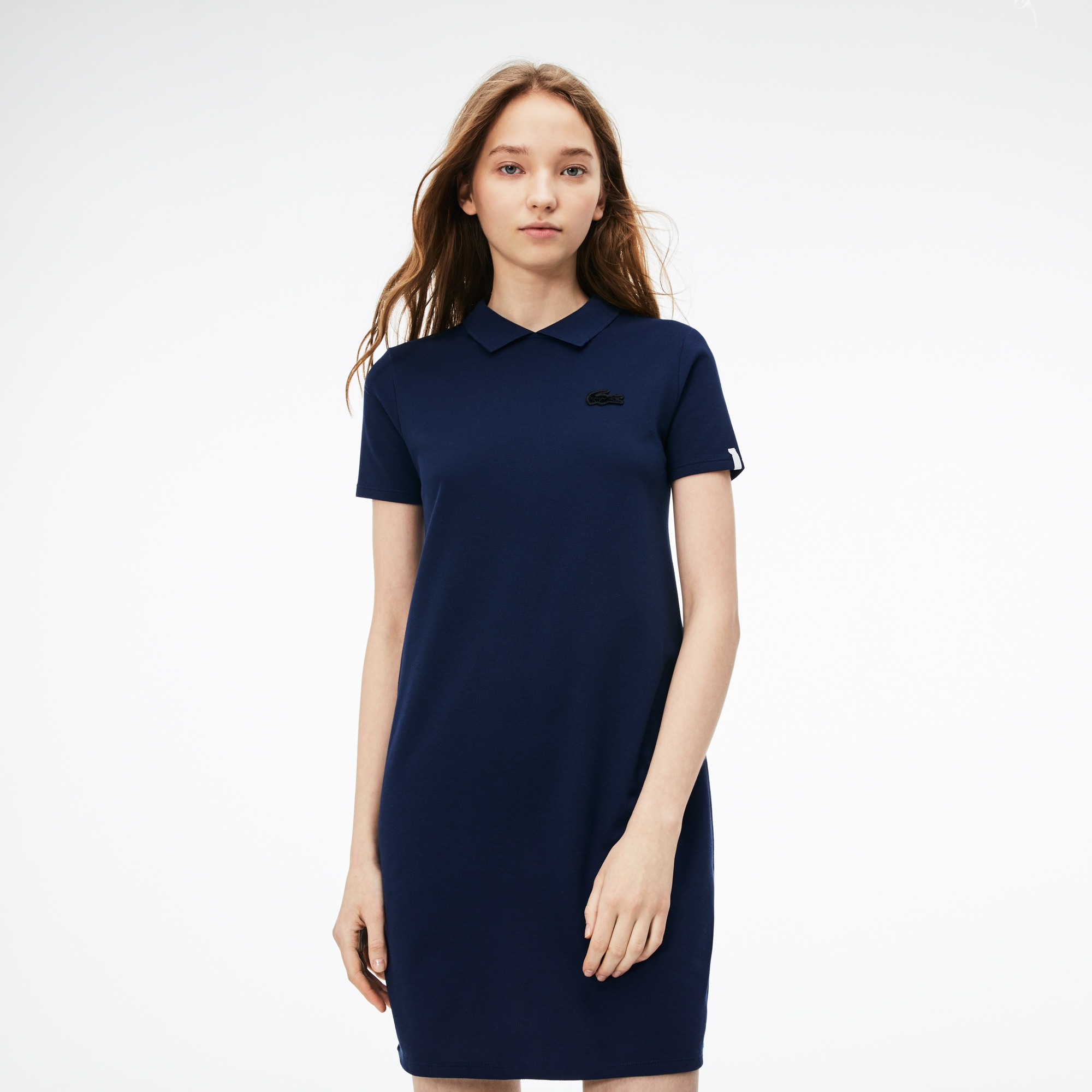 d66fa31402 + 2 colors. 50% off. Women's Lacoste LIVE Back Opening Stretch Mini Piqué  Polo Dress