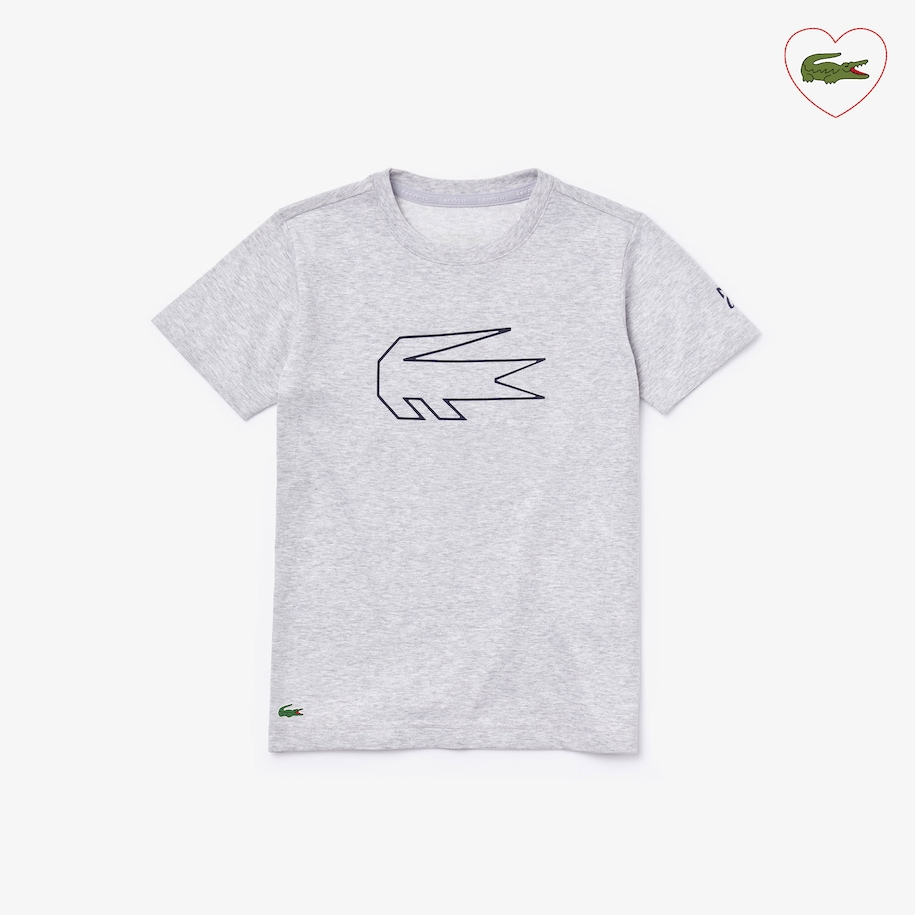 Boys Lacoste Sport X Novak Djokovic Crocodile Print T Shirt Lacoste