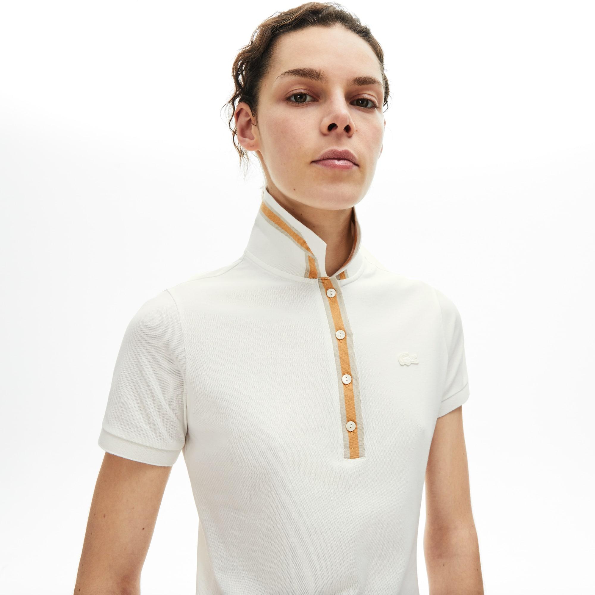 Women's Lacoste Contrast Stretch Cotton Polo Shirt