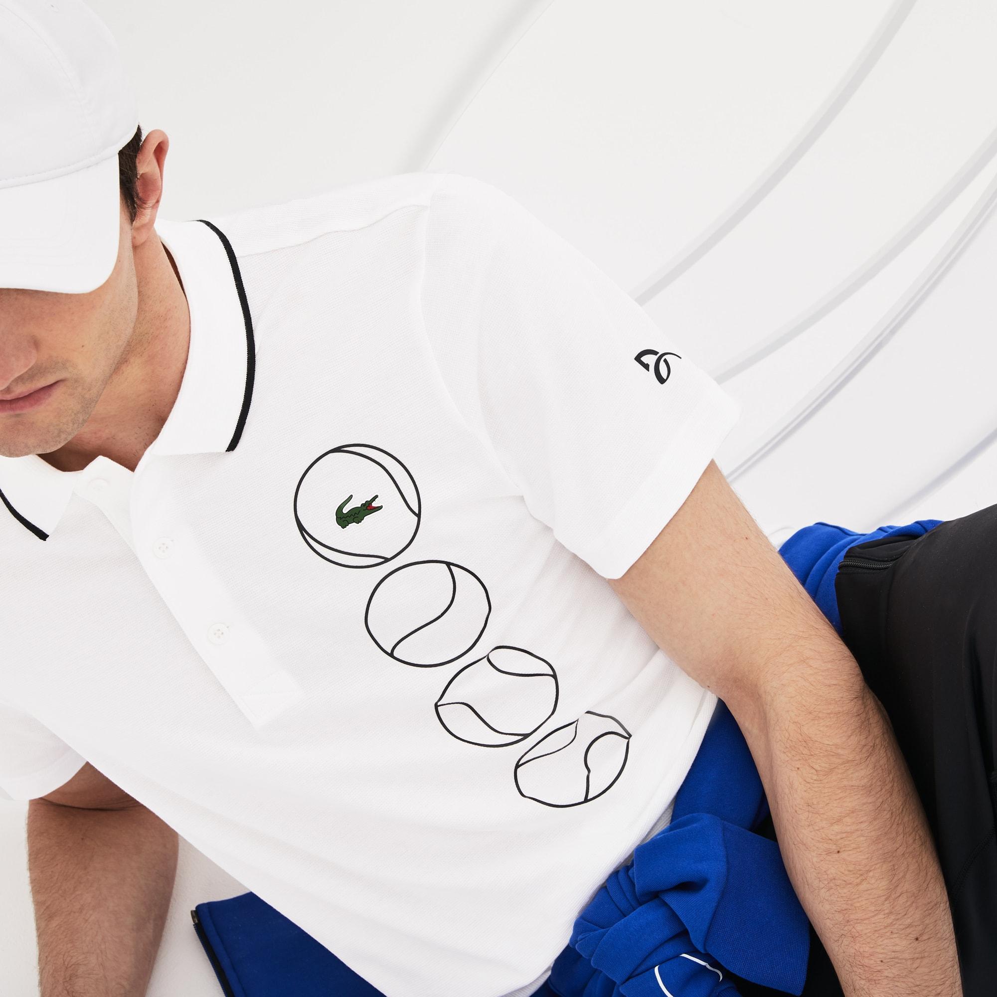 Men S Lacoste Sport Novak Djokovic Collection Print Ultra Light Cotton Polo Shirt Lacoste