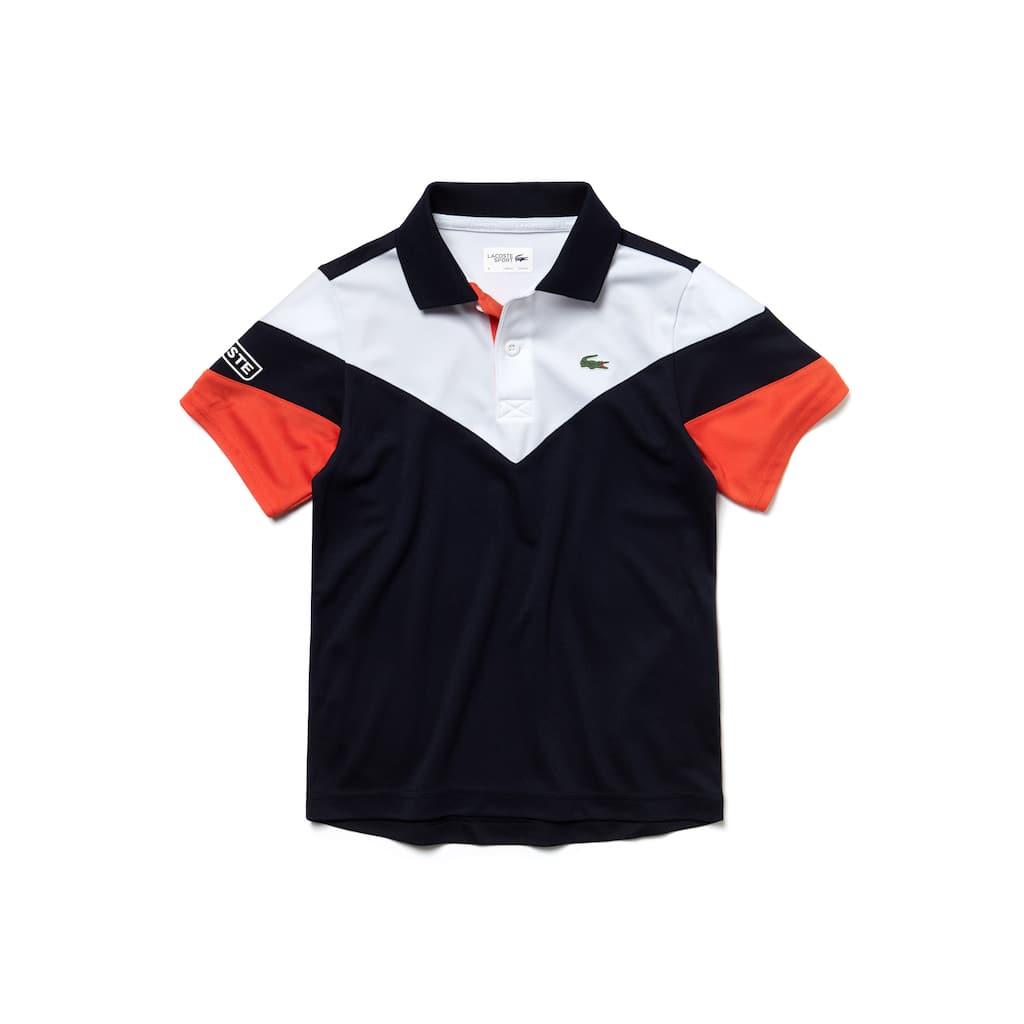 7791def693c7e9 Boys  Lacoste SPORT Tennis Colourblock Tech Piqué Polo Shirt