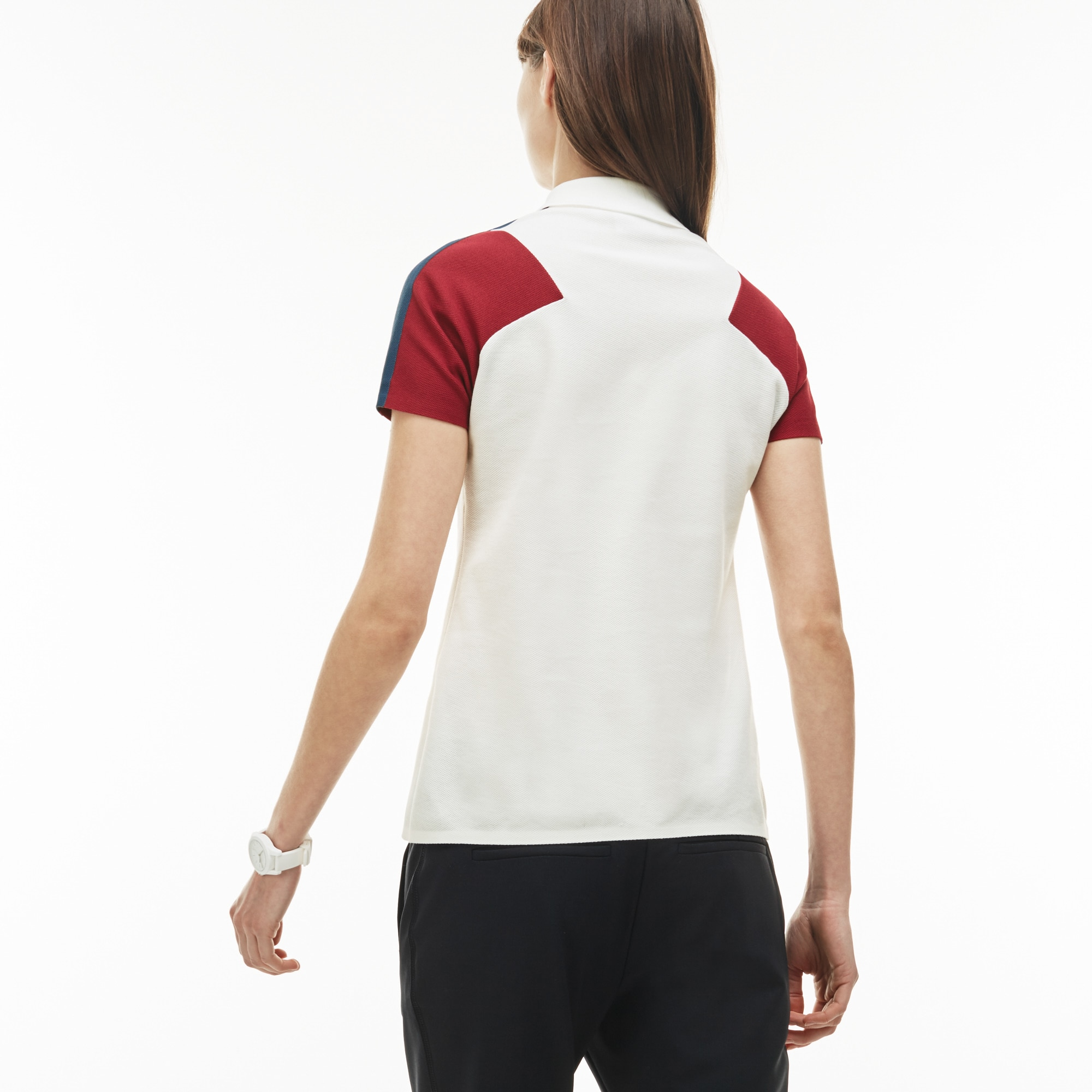 71f356e89dd Women s Lacoste Made In France Slim Fit Zip Neck Piqué Polo Shirt ...