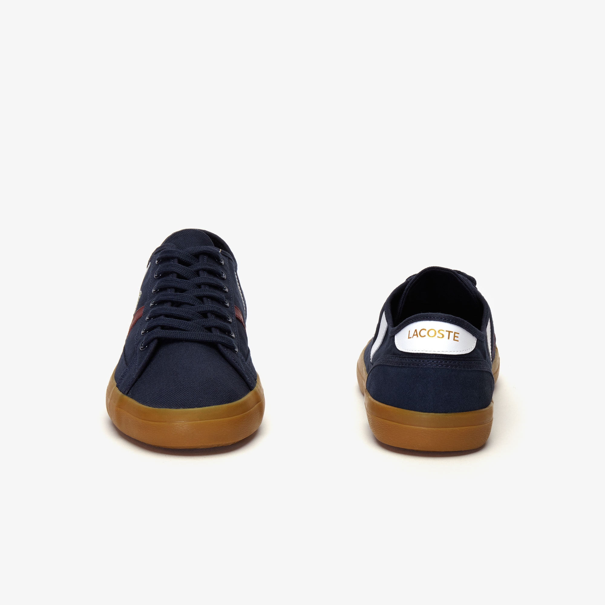 Men's Sideline Canvas and Two-tone Leather Trainers