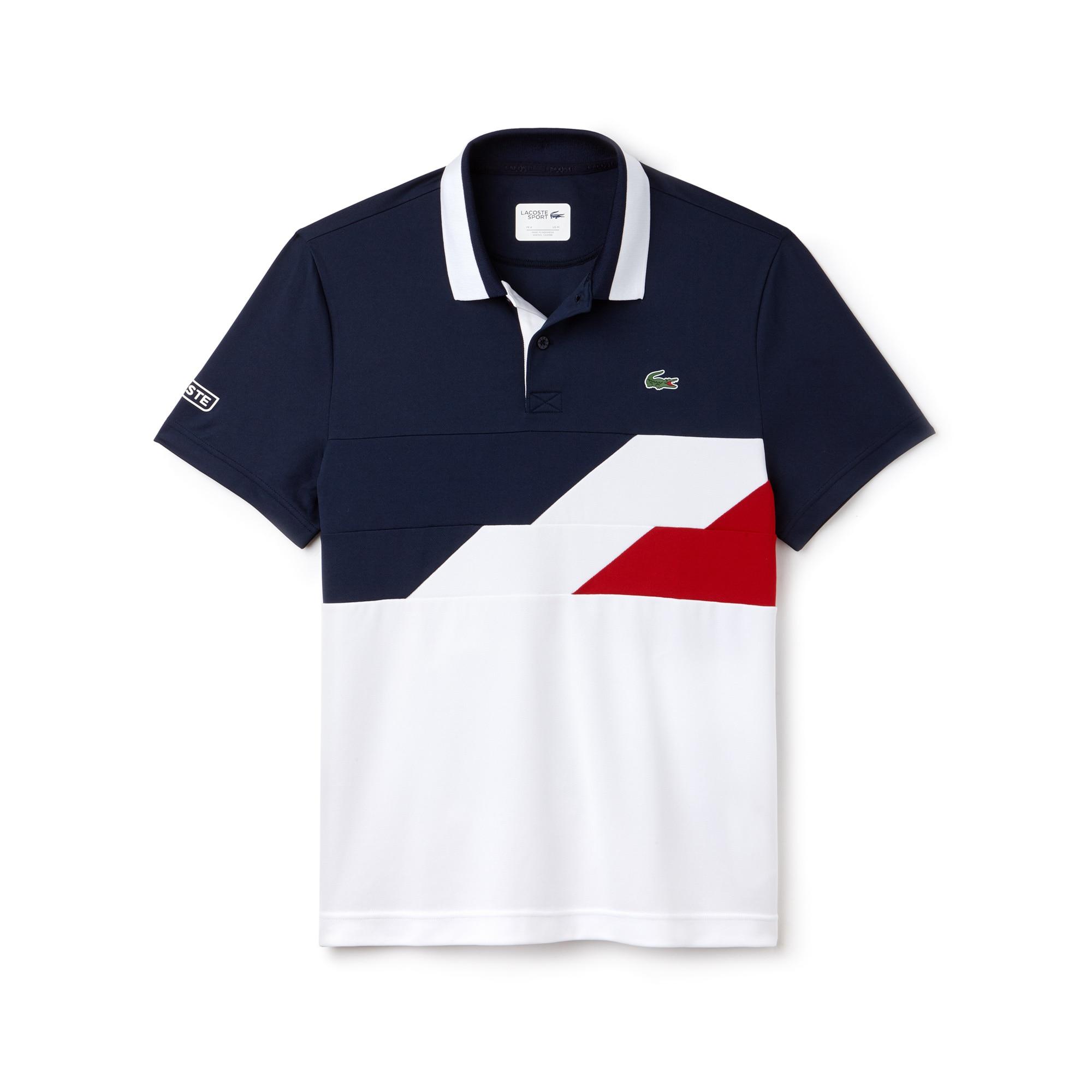Men s Lacoste SPORT Colorblock Bands Technical Piqué Tennis Polo ... 8b7ef43479f