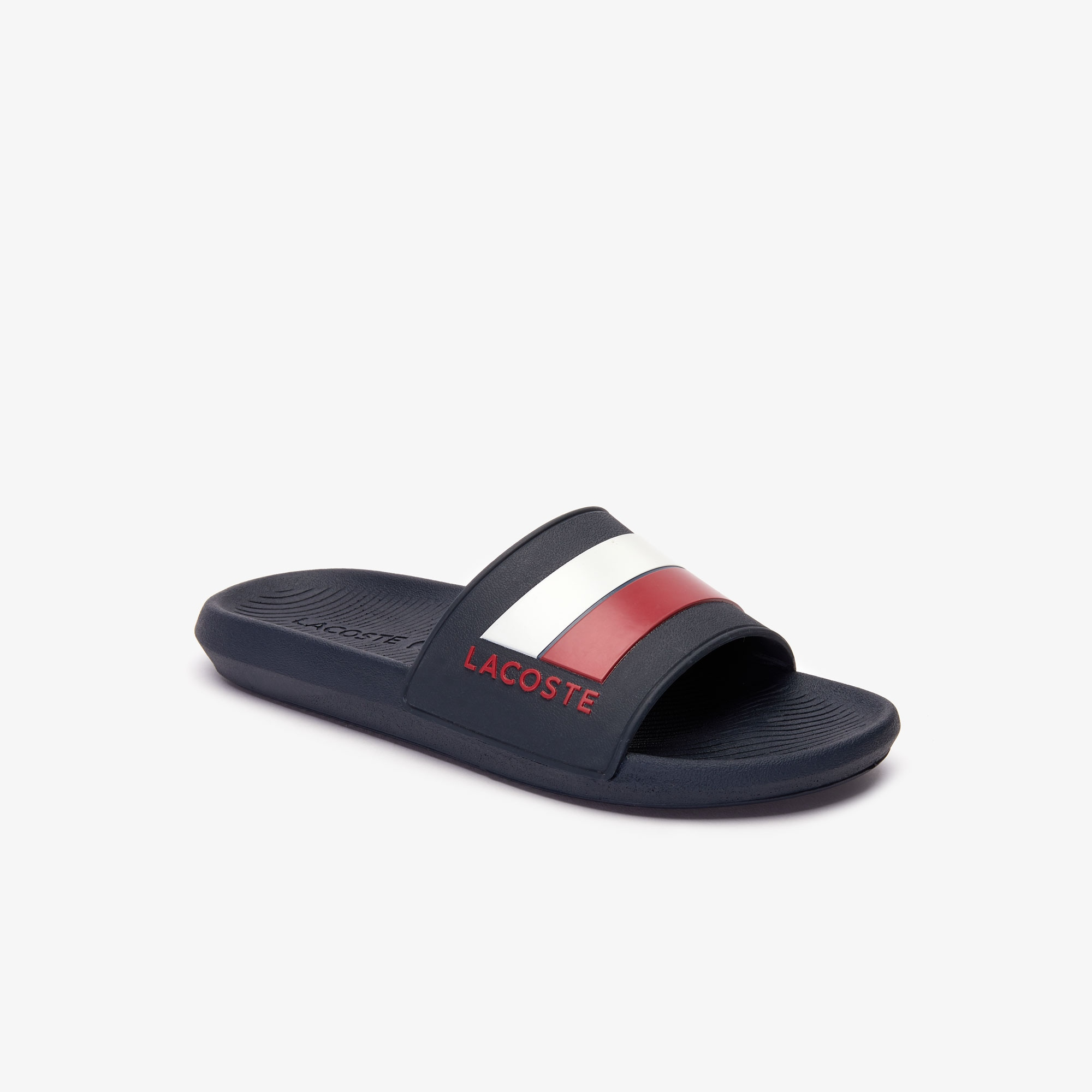 Men's Tricolor Rubber Slides