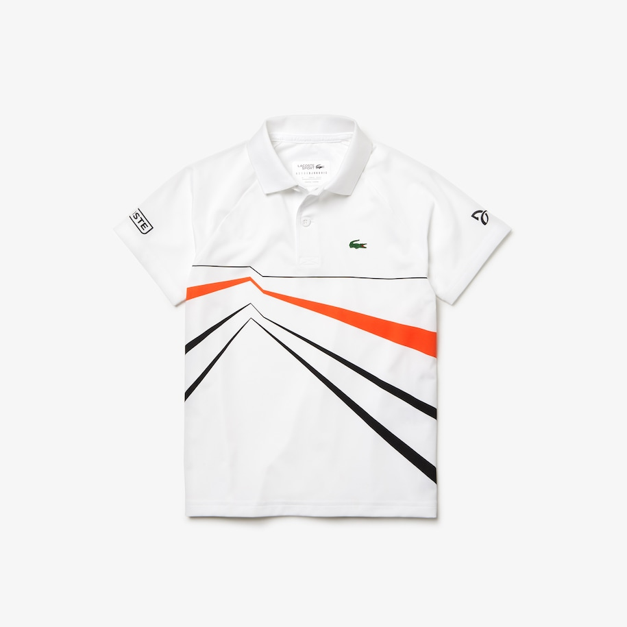 Boys' Lacoste SPORT Novak Djokovic Collection Graphic Print Polo Shirt