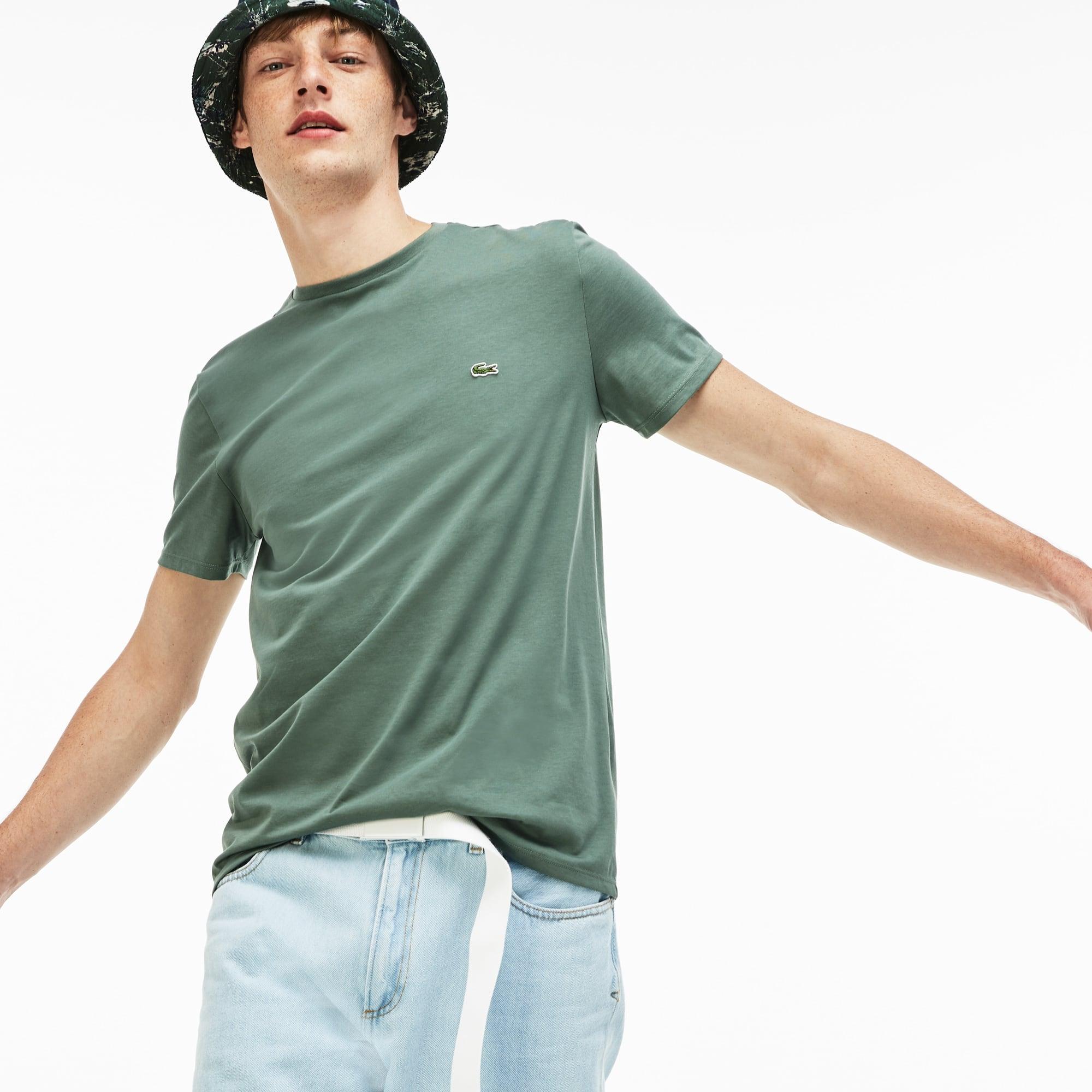 Men s Crew Neck Pima Cotton Jersey T-shirt