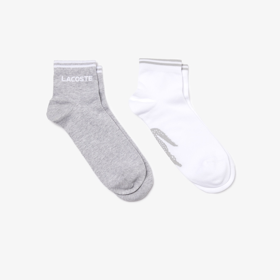 Two-pack of Lacoste Tennis low-cut socks in jacquard jersey