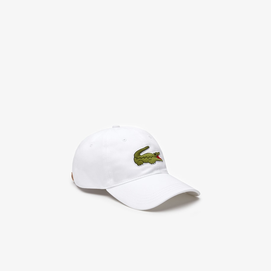 Men's Contrast Strap And Oversized Crocodile Cotton Cap