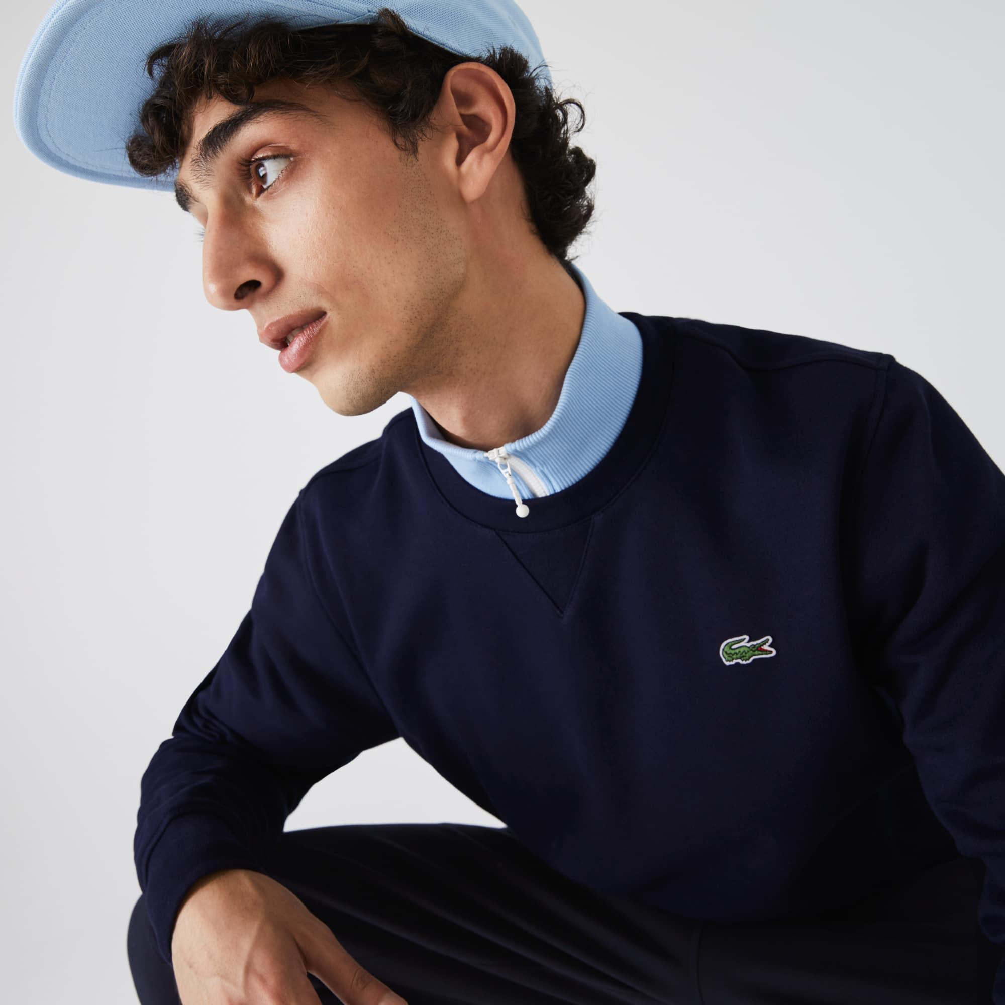 Men's Sweatshirt Lacoste Solid In Fleece Sport Crew Neck nwO80Pk
