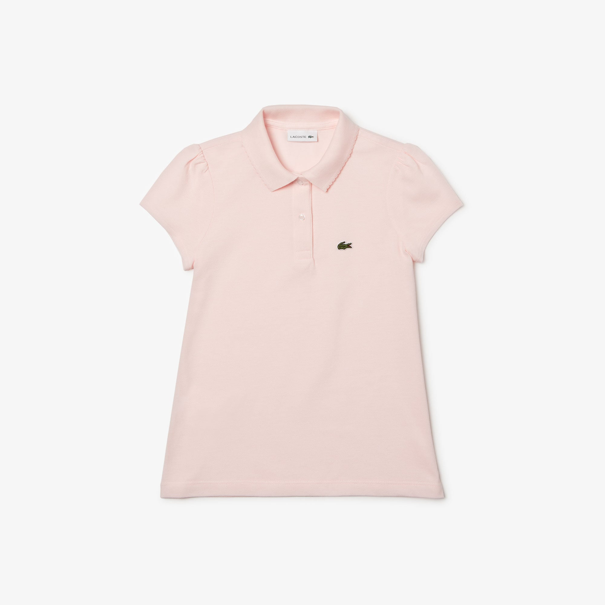 d0aee24476 Girls' Lacoste Scalloped Collar Mini Piqué Polo Shirt