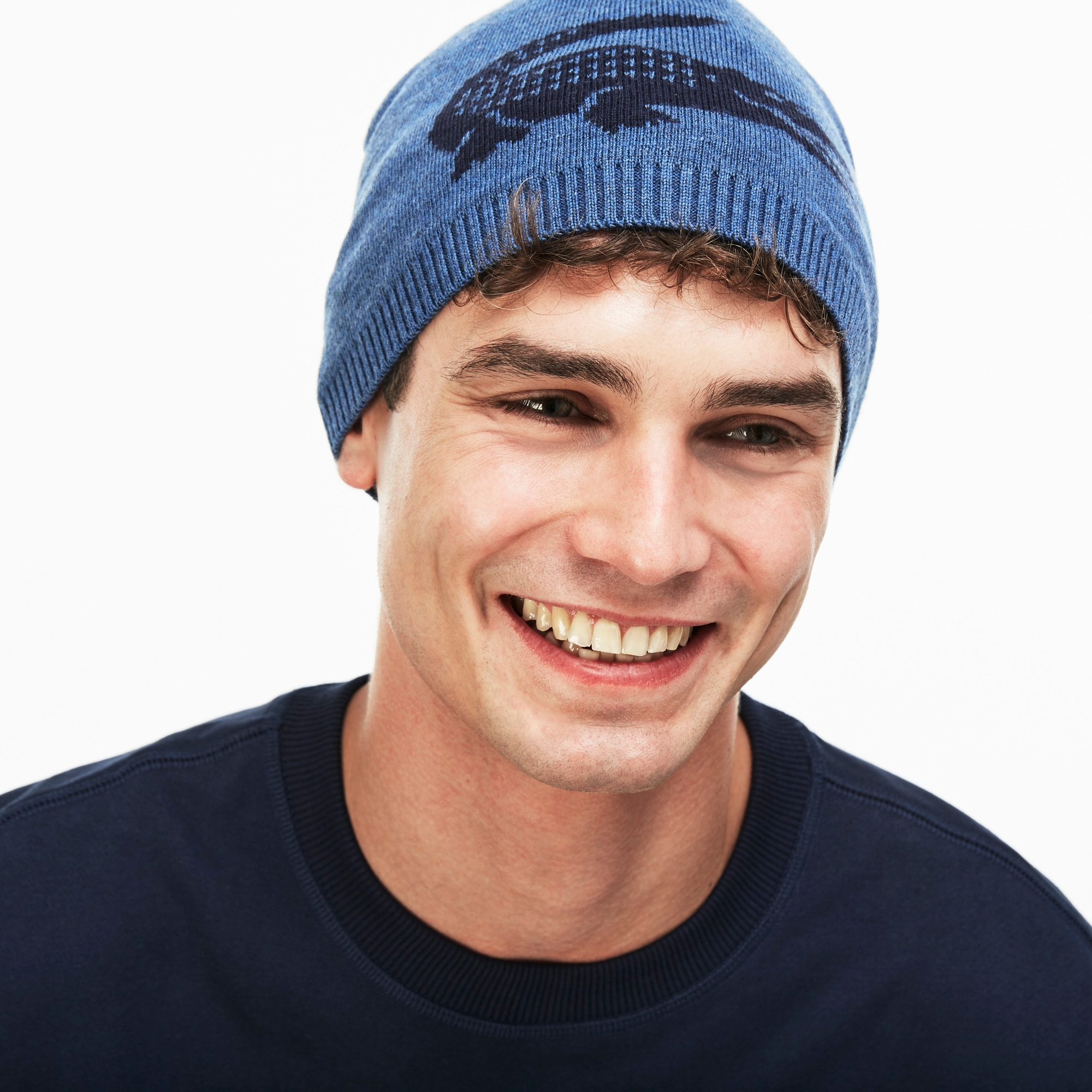 d10d32790 Men's Jacquard Crocodile Wool Beanie