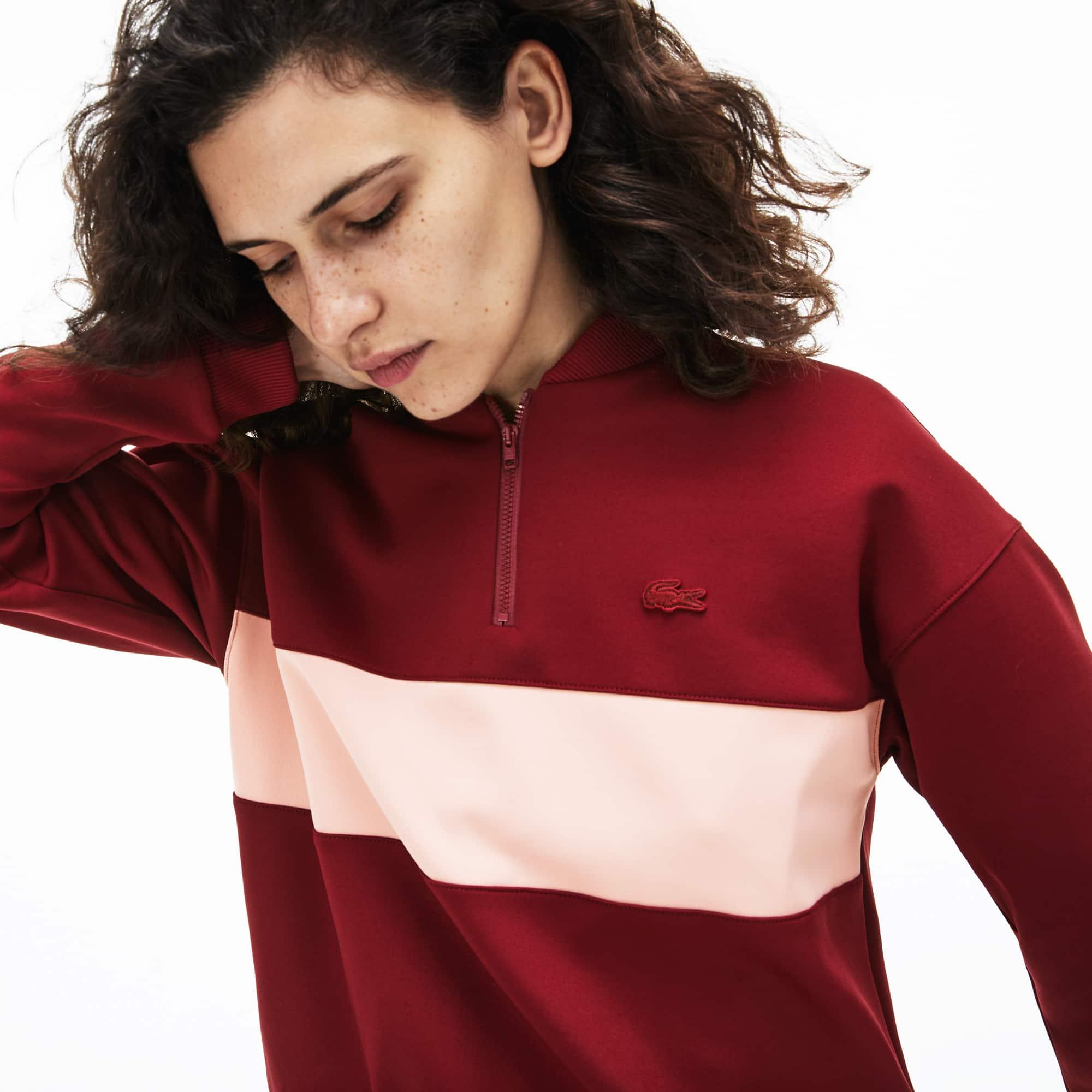 1f4a457793 Women's Zip Banana Neck Colourblock Neoprene Sweatshirt