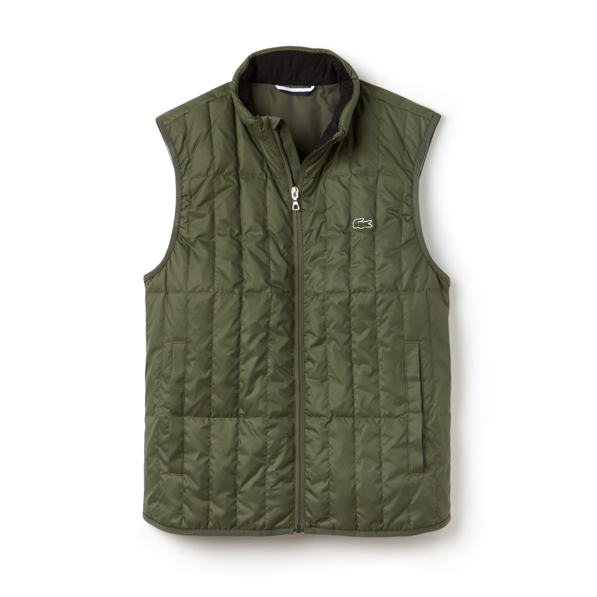 Men's Built-in Hood Quilted Vest