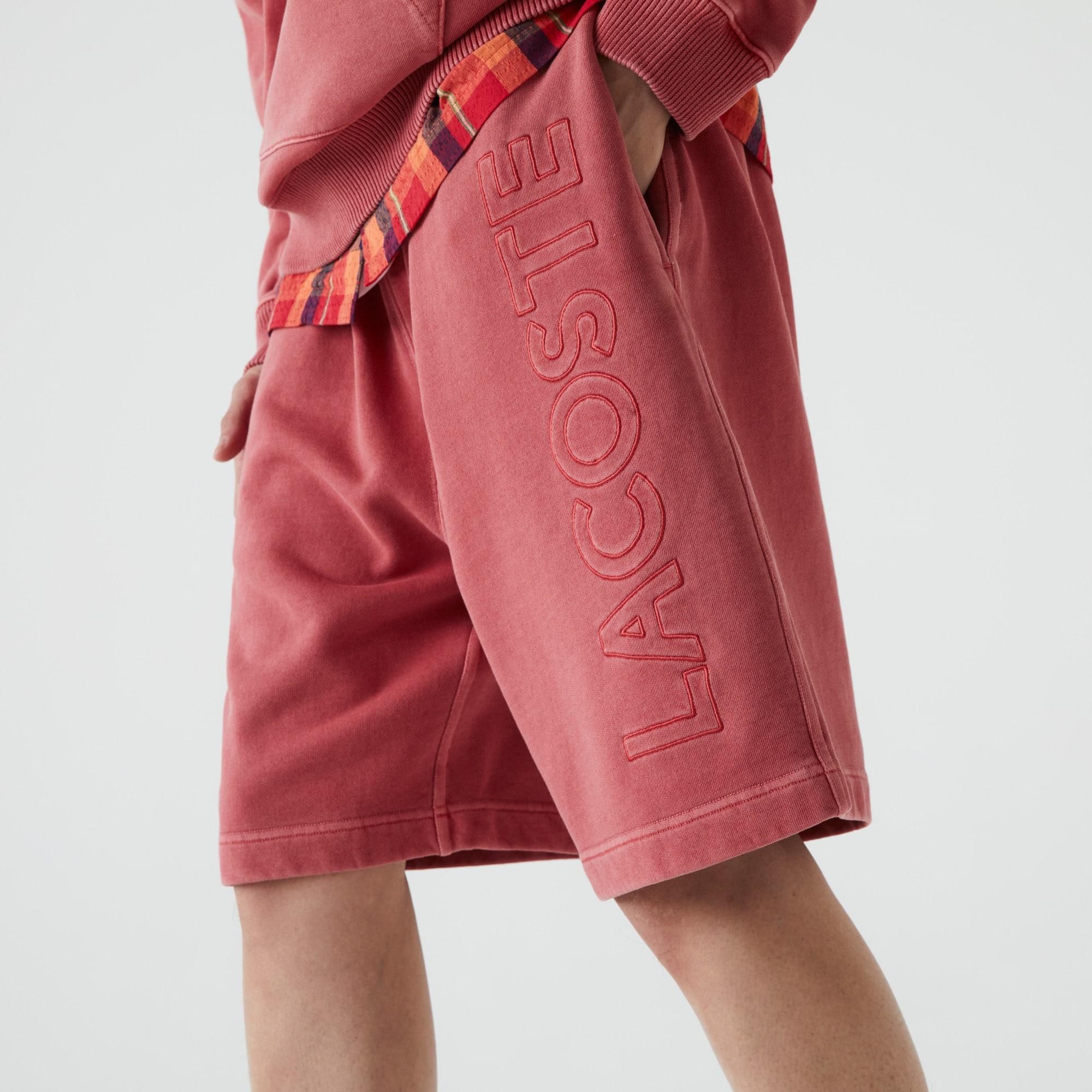 Homme Lacoste français Fleece Shorts New