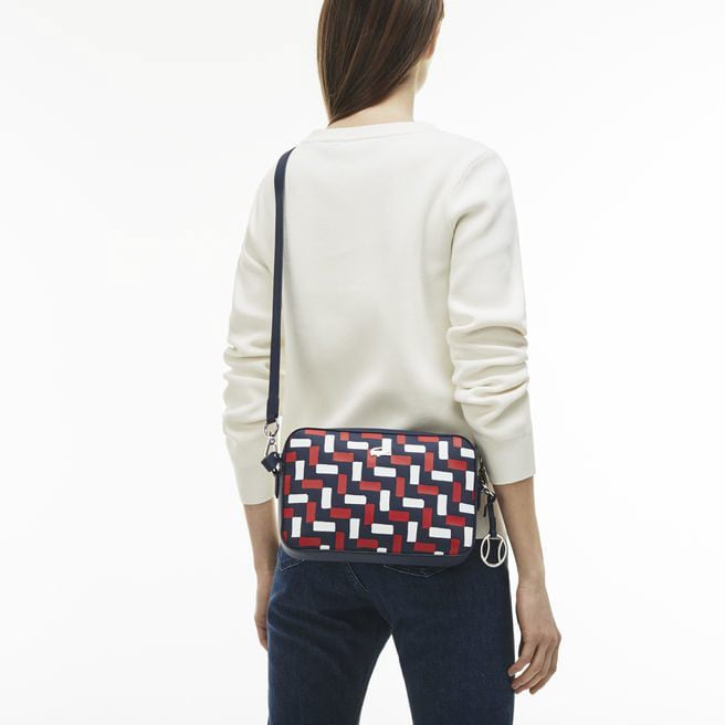 Women's Daily Classic Tricolor Print Square Crossover Bag
