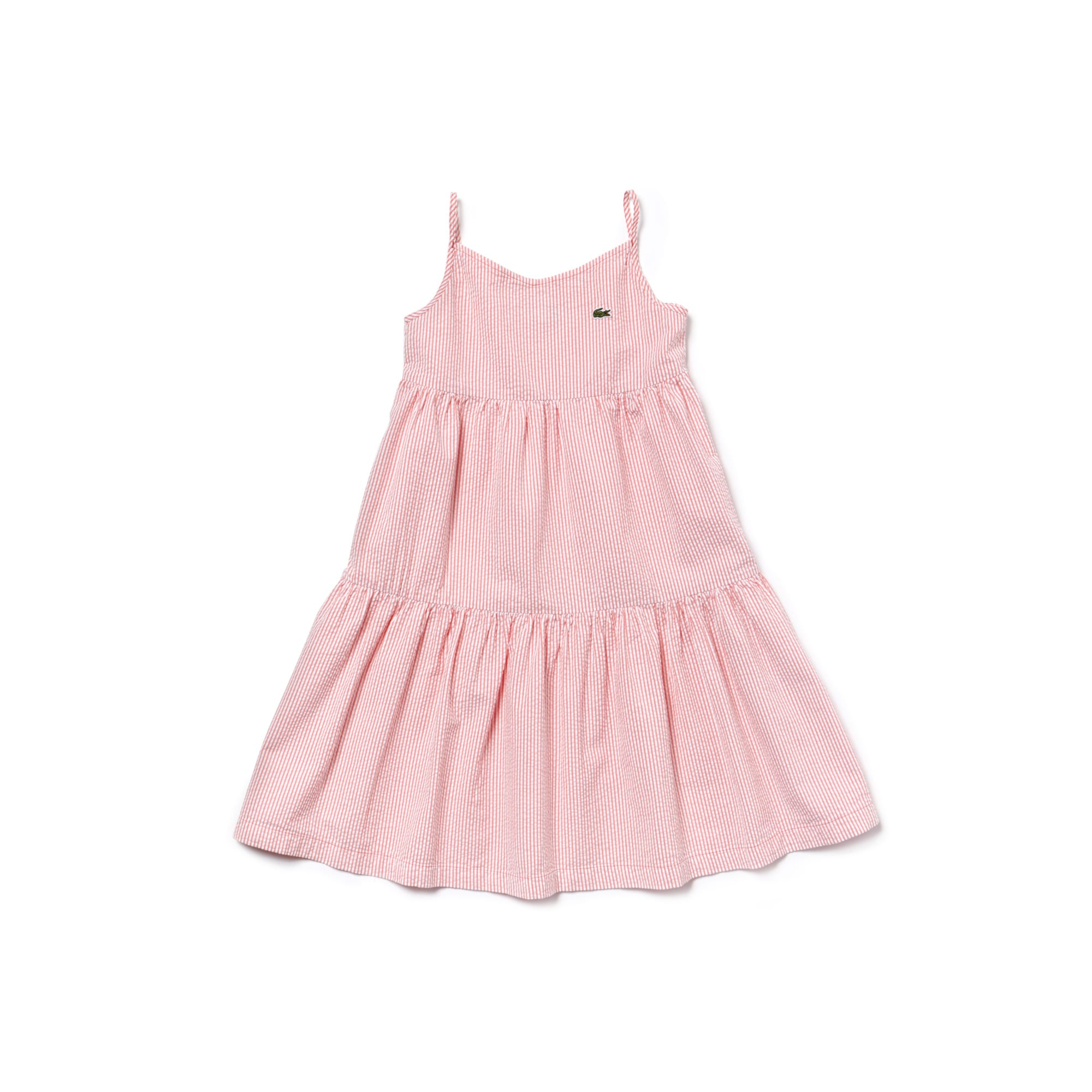 Girls' Strappy Cotton Seersucker Dress
